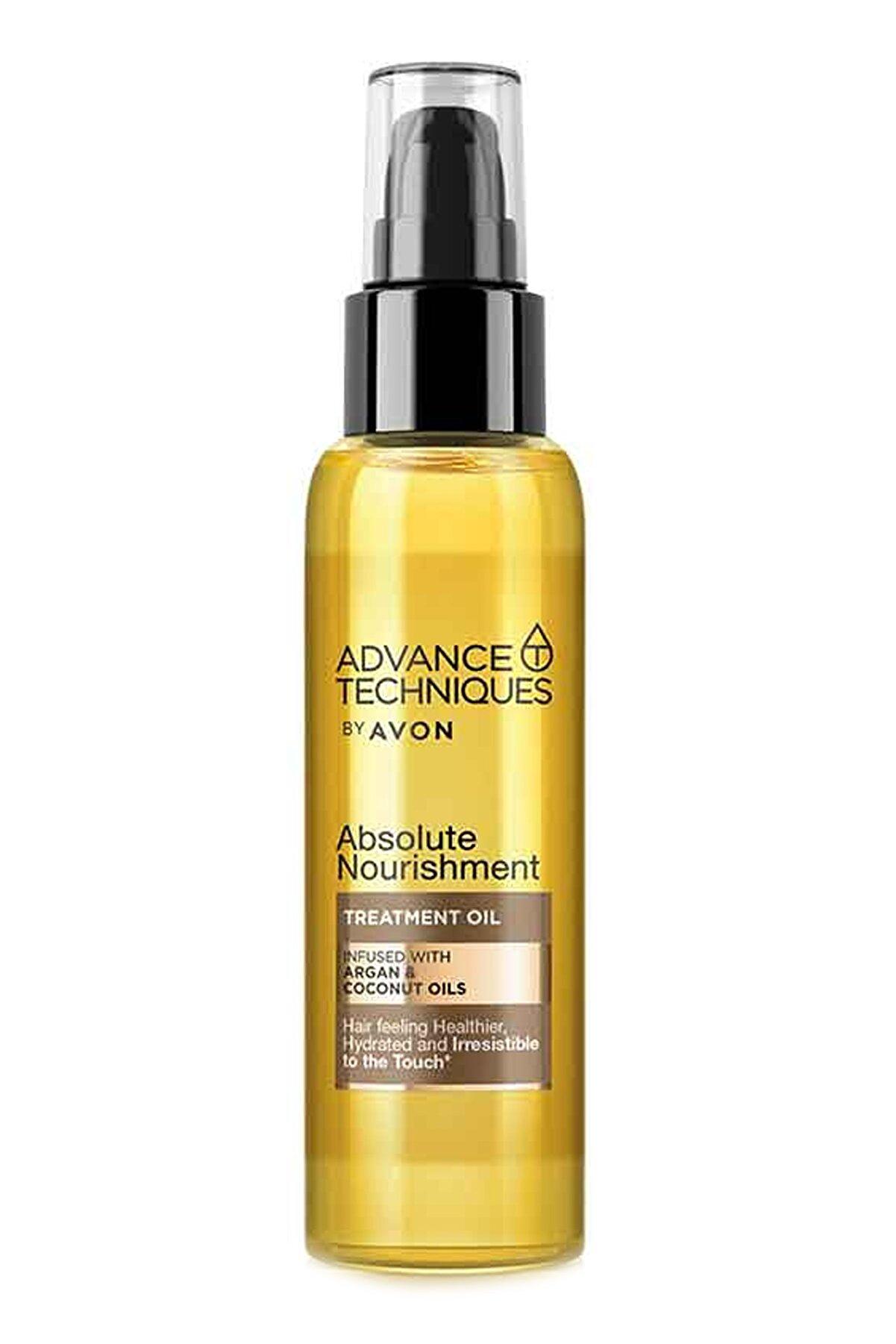 Avon Advance Techniques Argan Ve Hindistan Cevizi Yağı Içeren Saç Bakım Yağı 100 ml