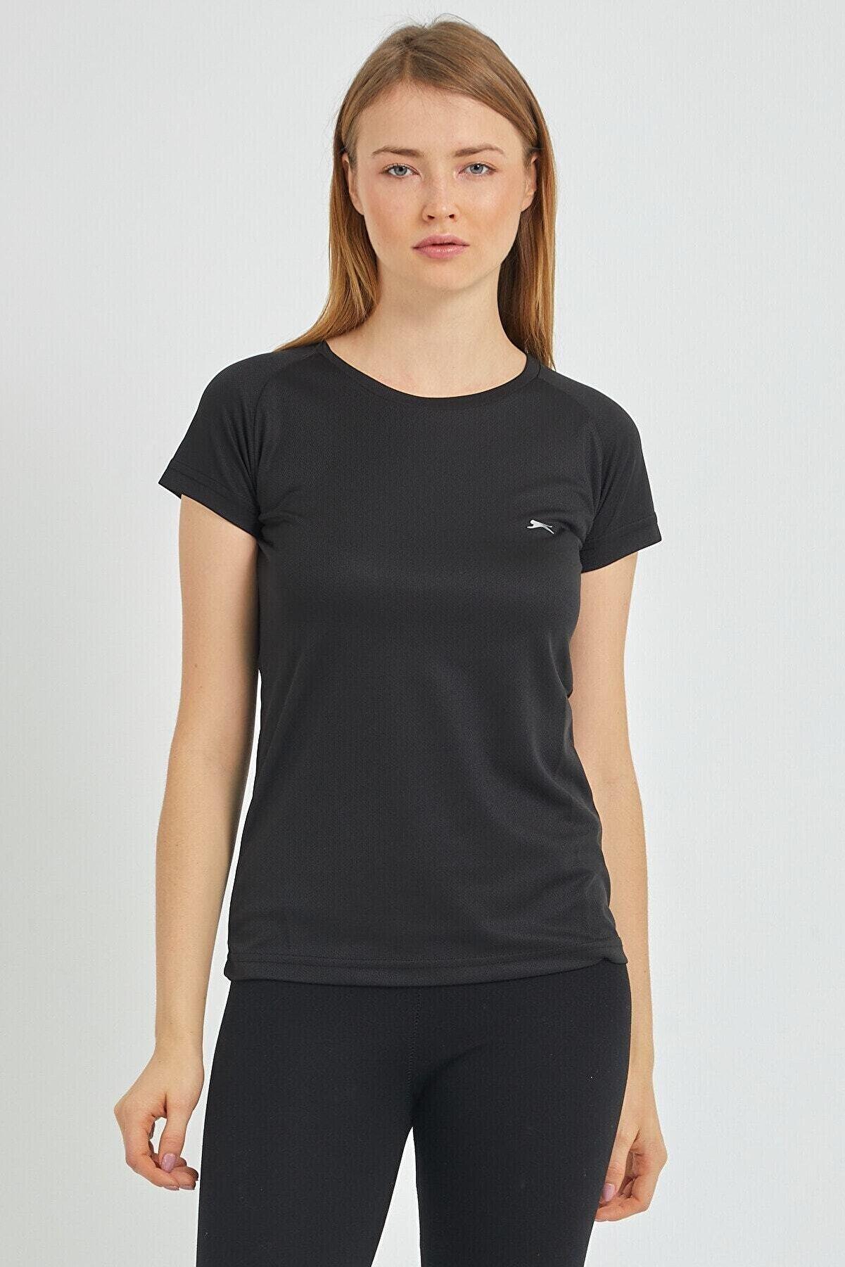 Slazenger Relax Kadın T-shirt Siyah St11te050