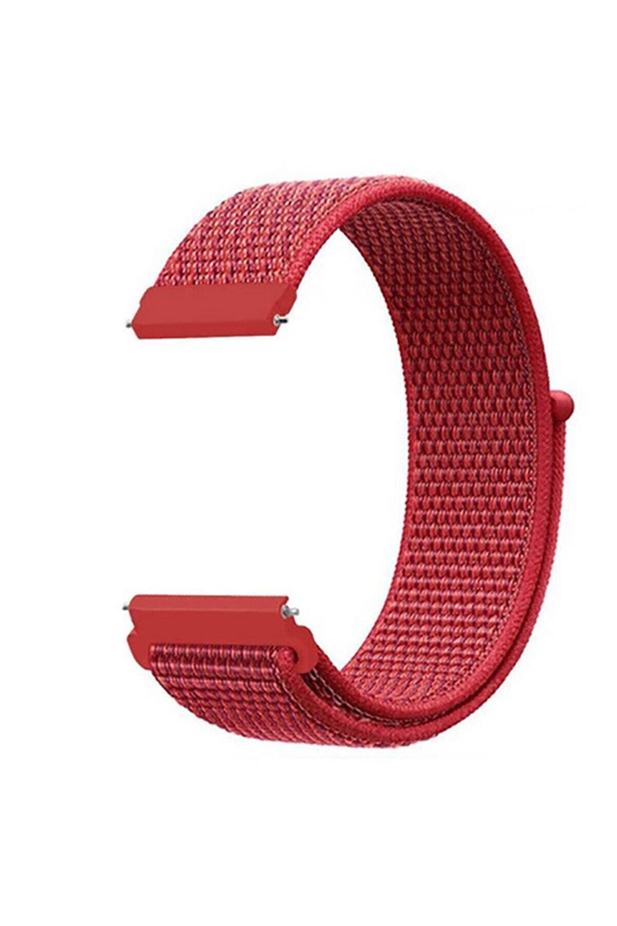 Samsung Galaxy Watch 42mm 20mm Krd-03 Akıllı Saat Kordonu Hasır Dokuma Kordon Kayış Bileklik