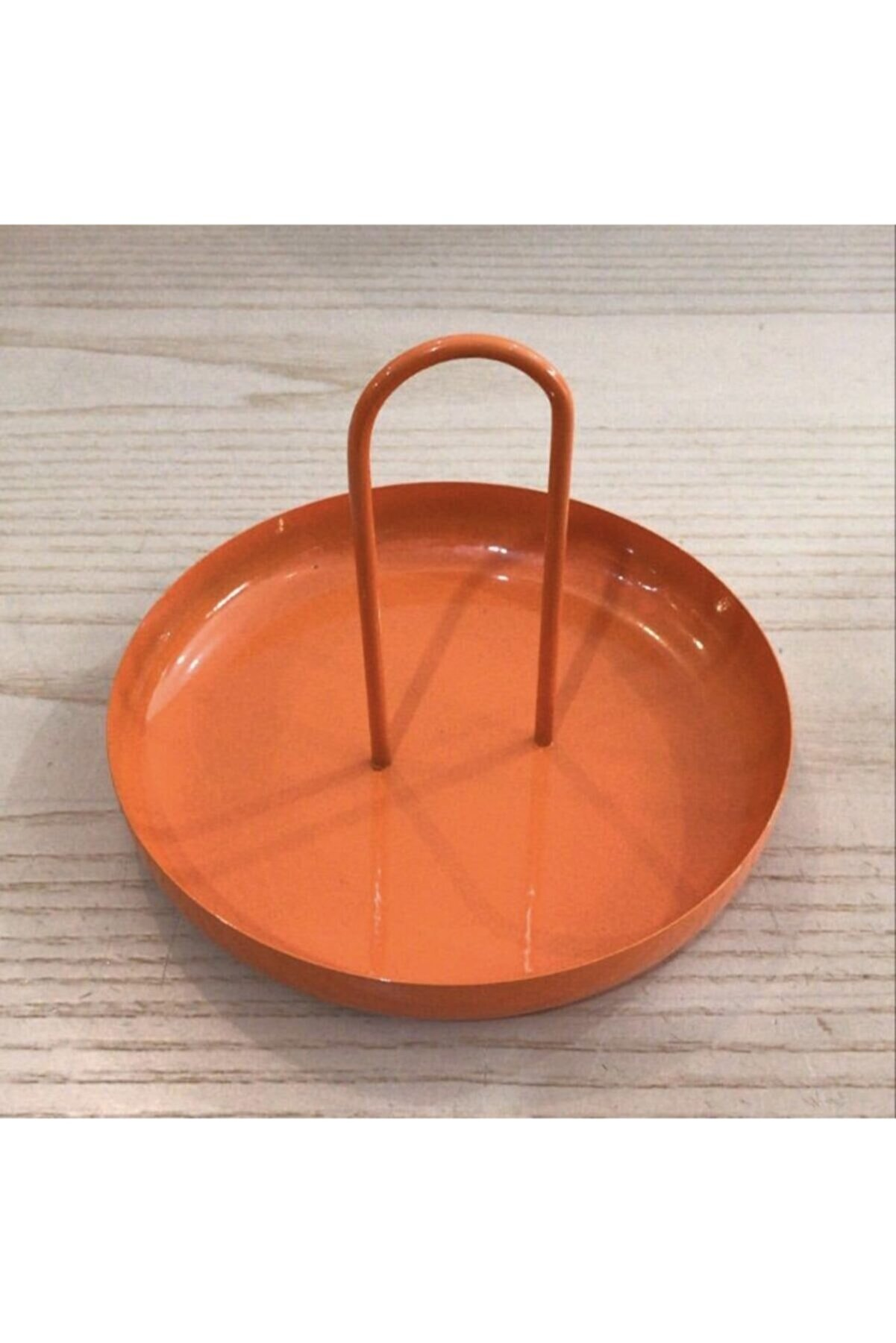 Fiyakalı Ürünler Makyaj Malzemesi Toparlayıcısı,çerezlik,anahtarlık,metal Sunumluk,dekoratif Tabak (turuncu)