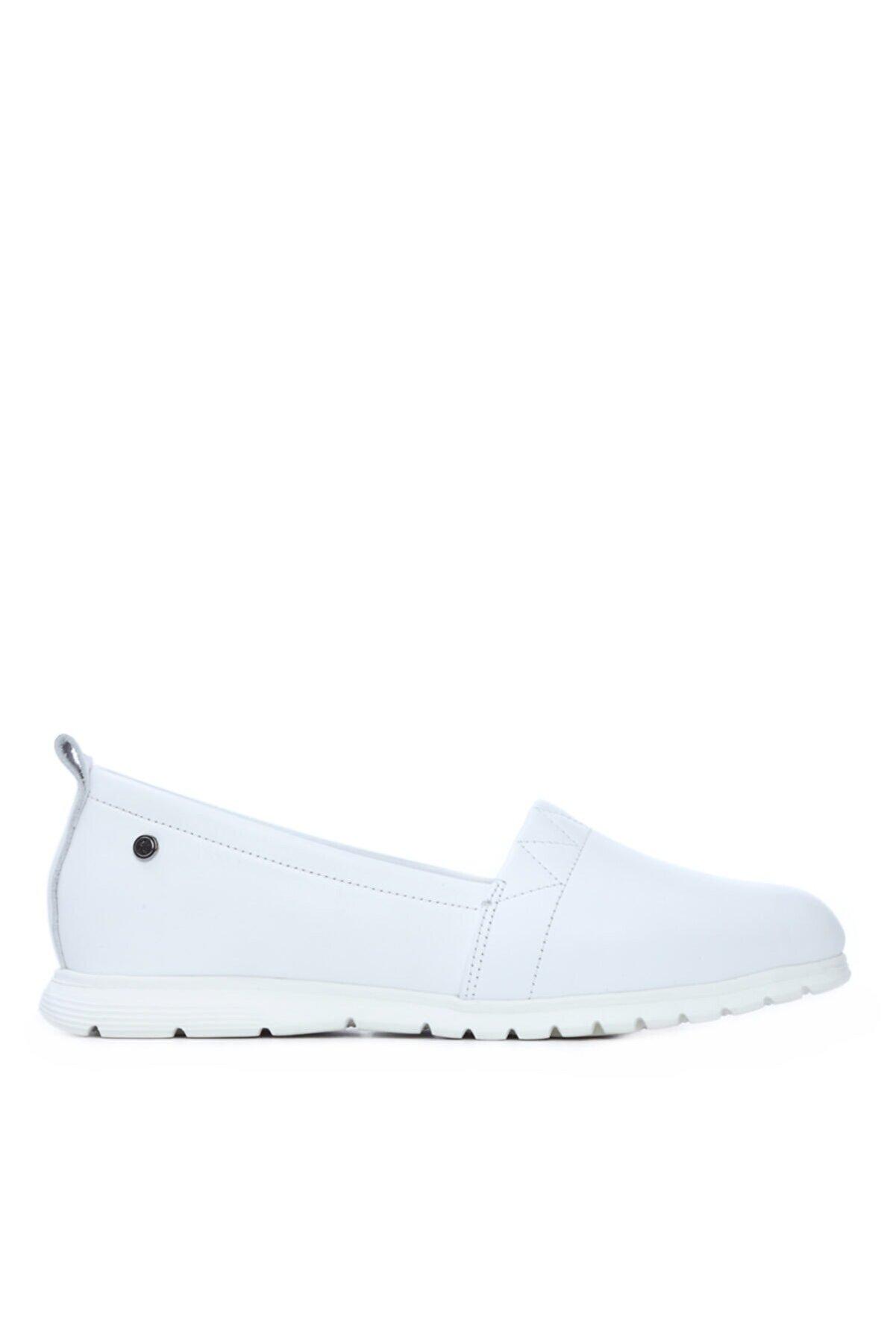 Kemal Tanca Kadın Beyaz Derı Comfort Ayakkabı