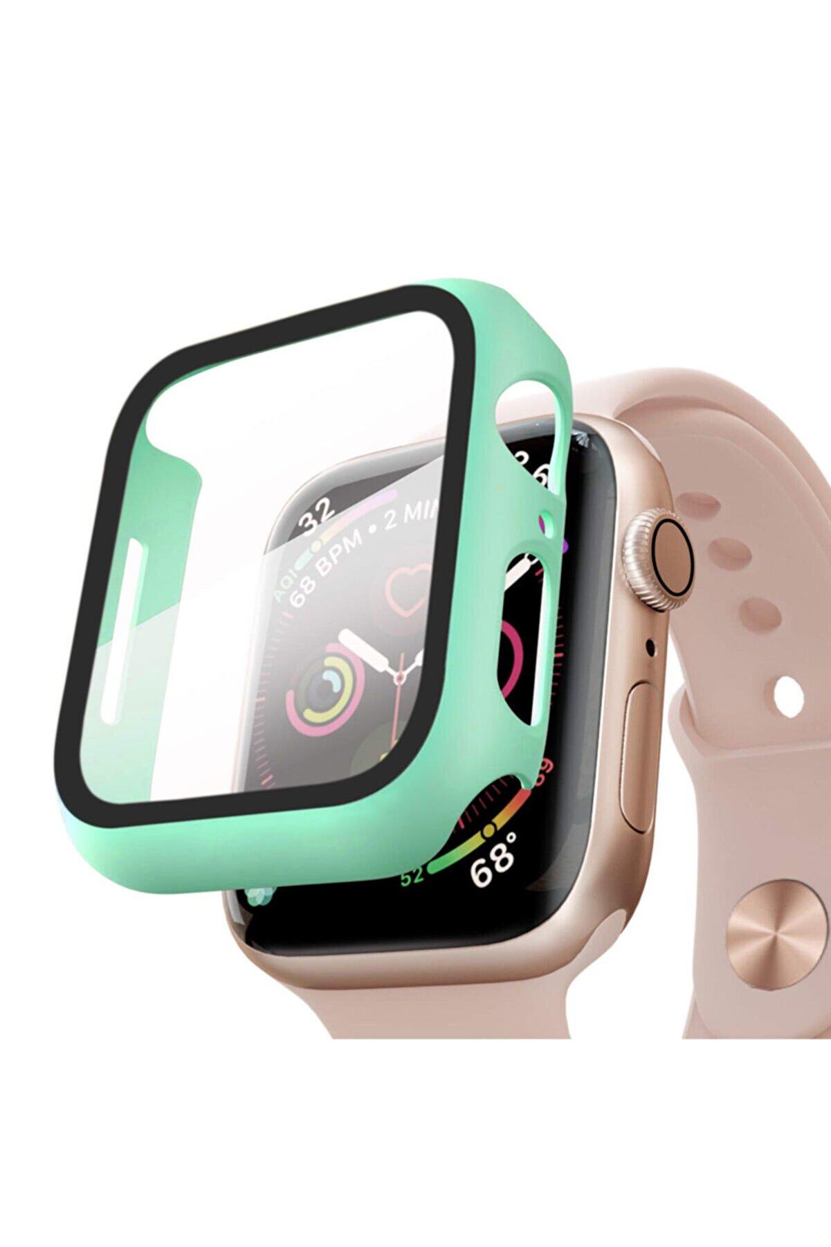 Microsonic Mint Yeşili Microsonic Watch Series 4 40mm Kılıf Matte Premium Slim Watchband