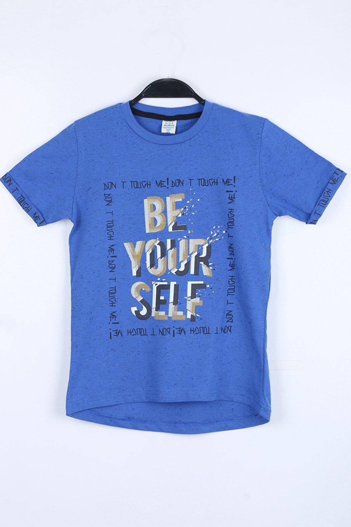 Enisena Erkek Çocuk Sax Kılcıllı Baskılı T-shirt