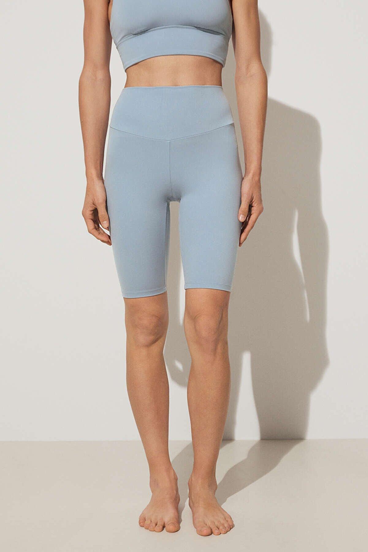 Oysho Kadın Mavi Comfortlux Bisikletçi Leggings