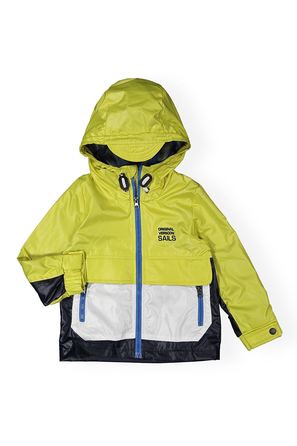 Verscon Erkek Çocuk Sarı Yağmurluk