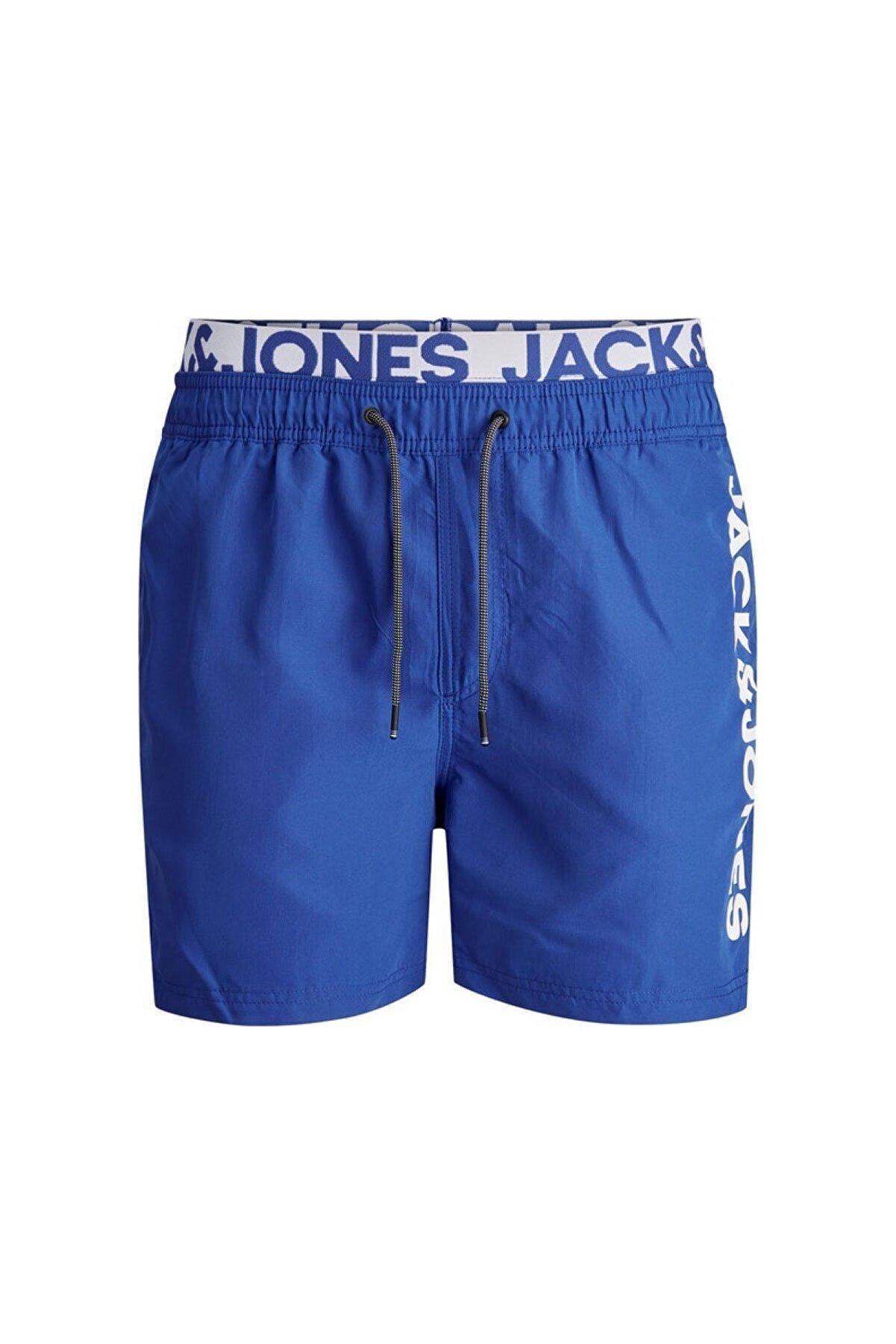 Jack & Jones Erkek Jjıbalı Akm Db Wb Logo Şort