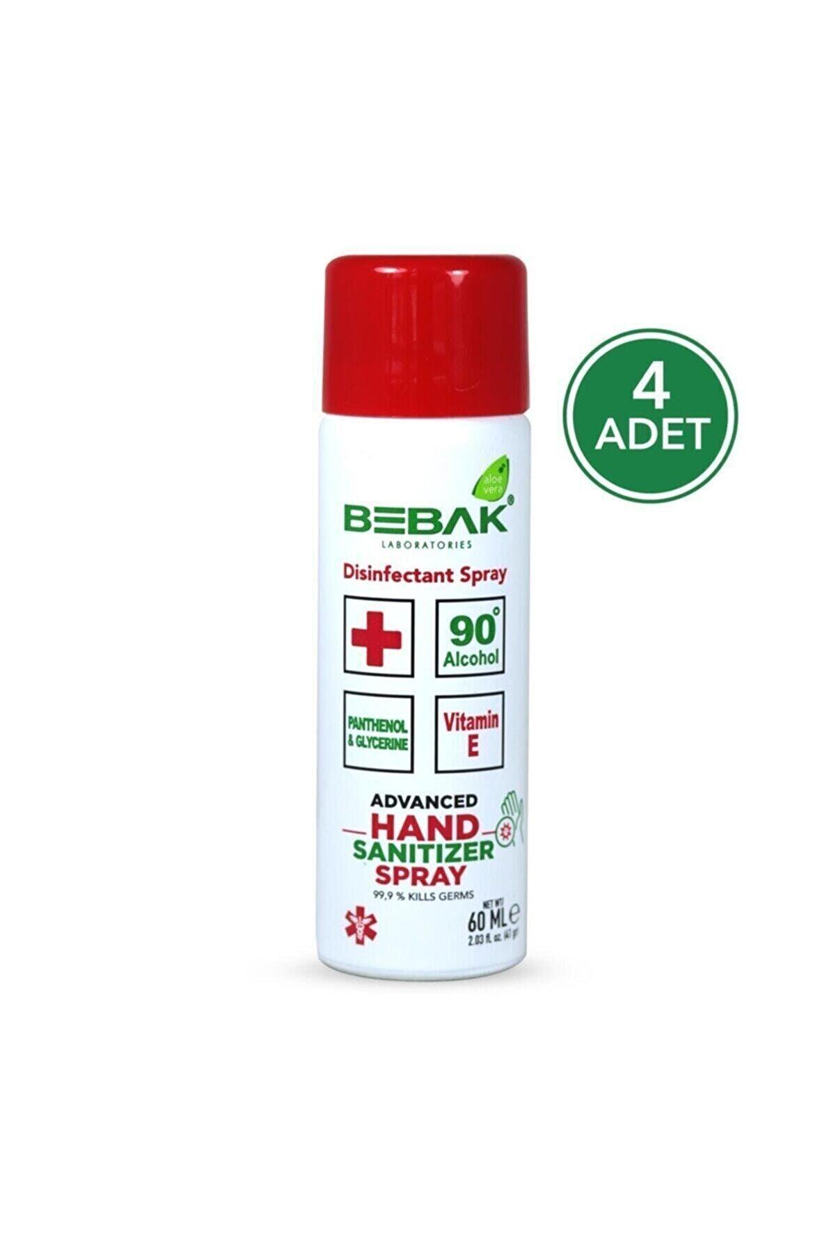 Bebak Mini Sprey El Dezenfektanı 60ml 4 Adet