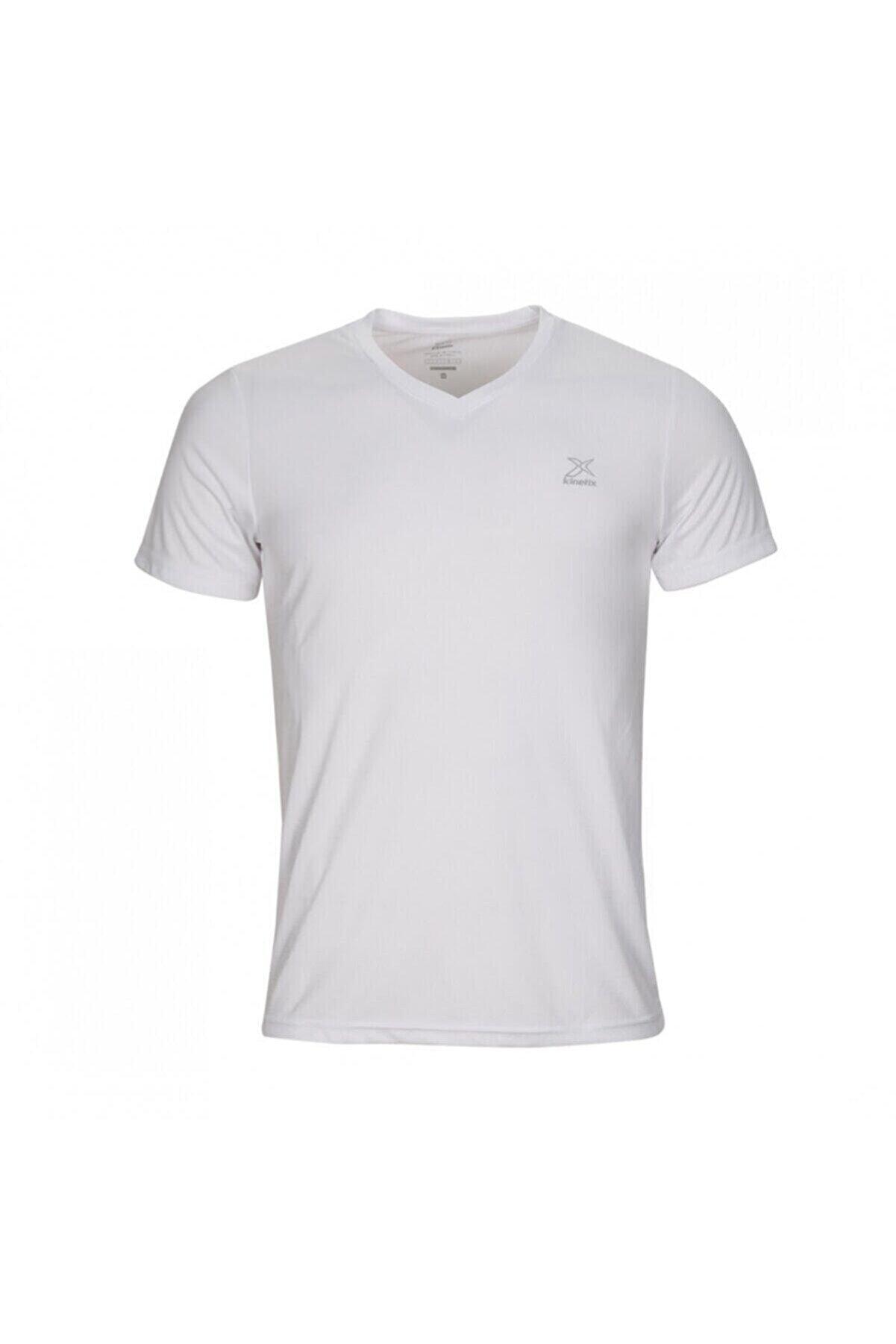Kinetix SN222 BASIC V NECK T-SHIR Beyaz Erkek T-Shirt 100581582