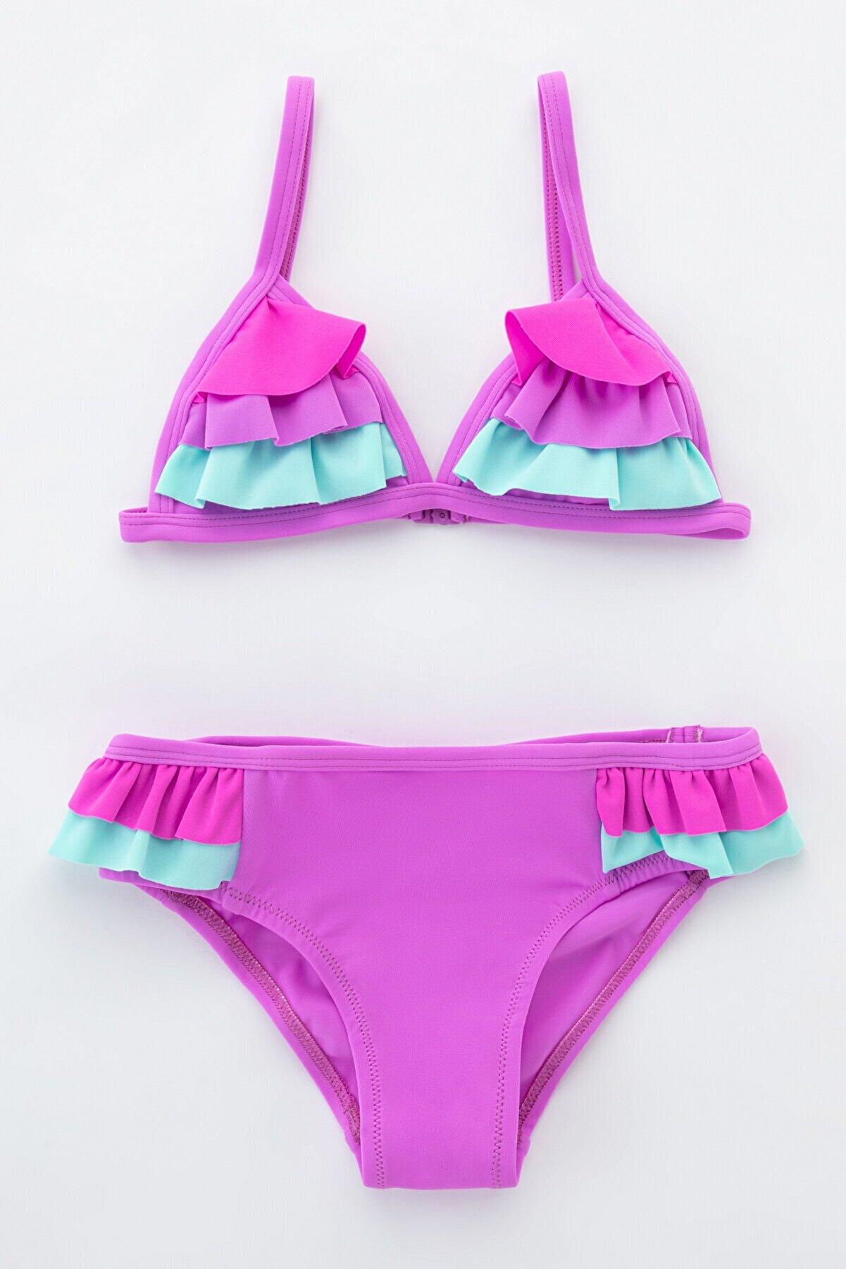 Penti Kız Çocuk Mor Sweet Pastels Bikini Takımı