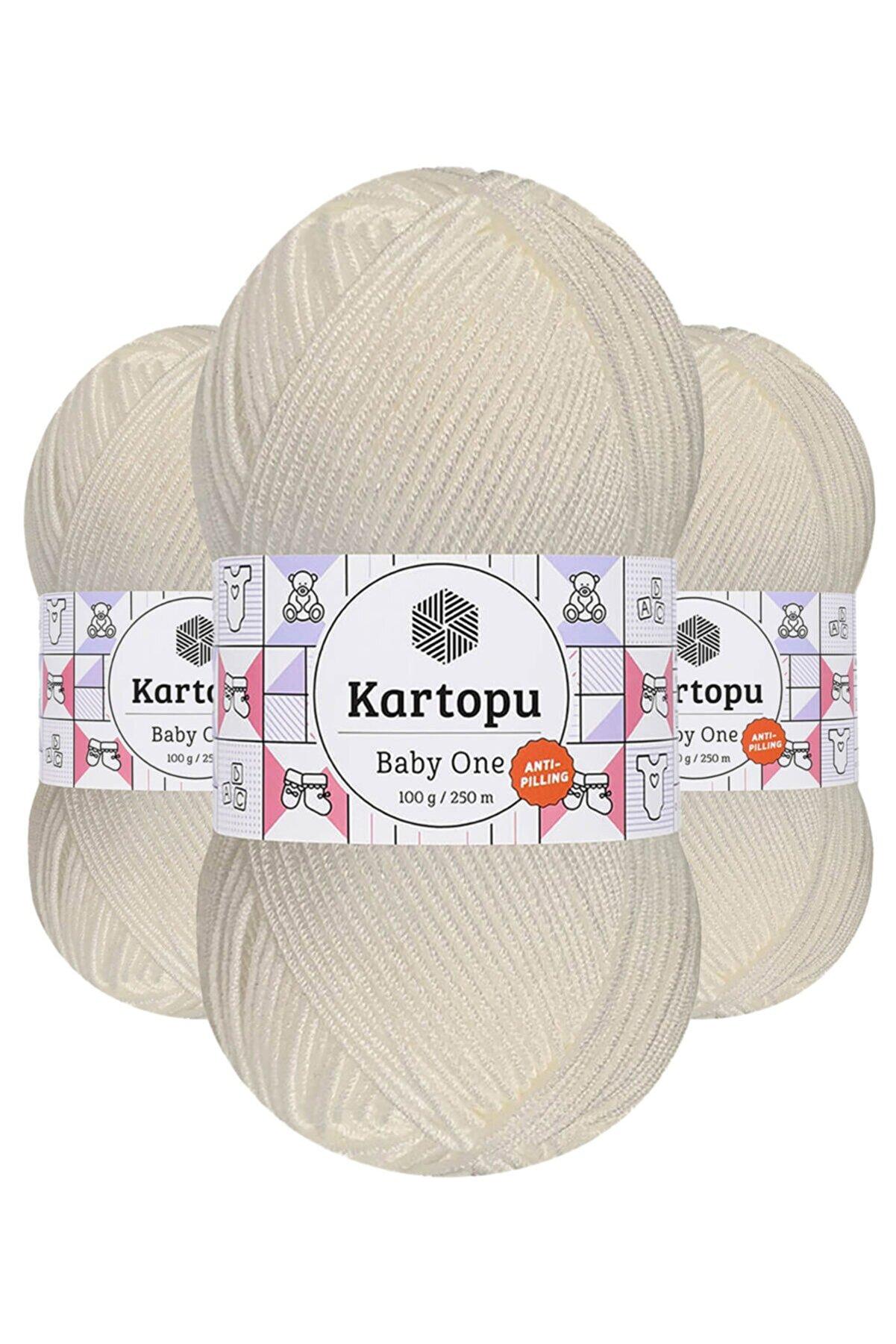 Kartopu Baby One K019 (kırık Beyaz) Anti-pilling El Örgü Ipi/yünü 1 Adet