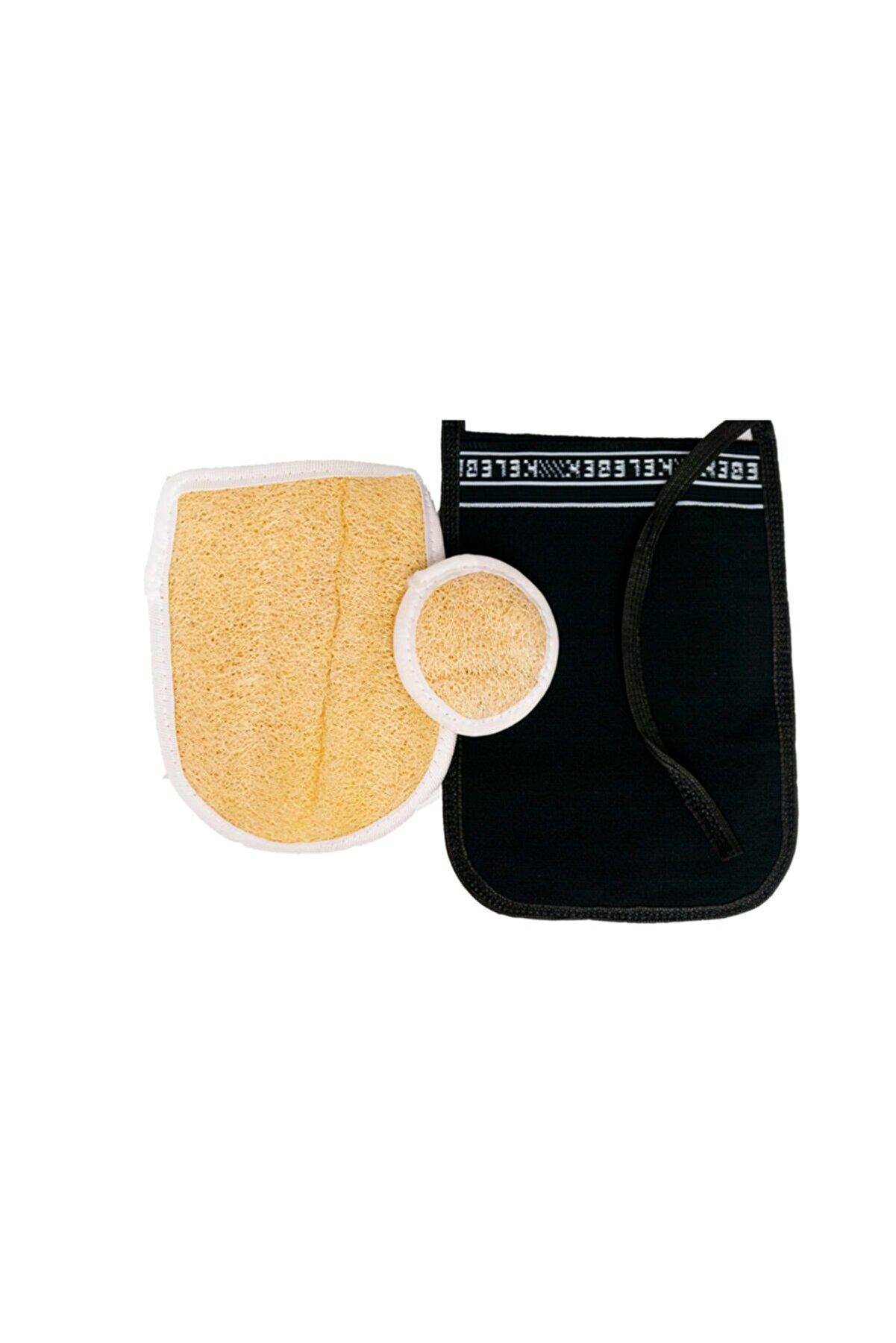 Anatolia Soap Kabak Lifi Vücut + Yüz Kabak Lifi + Kelebek Kese Siyah