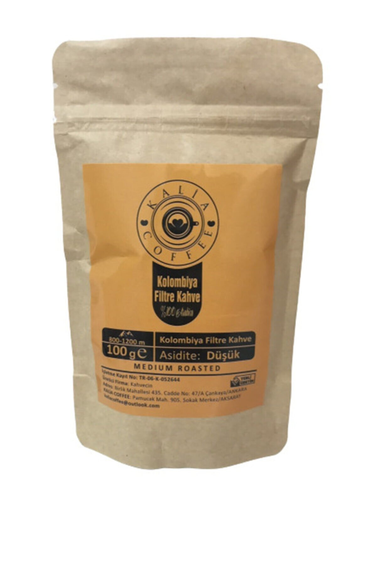 KALİA COFFEE Kolombiya Filtre Kahve