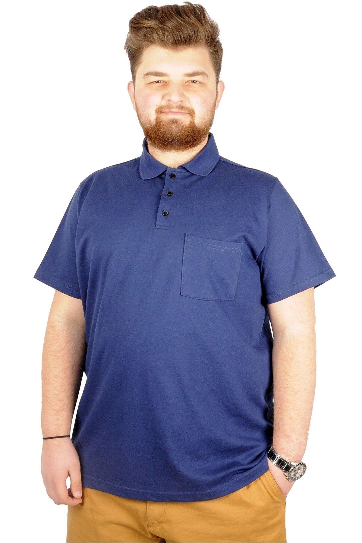 Modexl Indigo  Polo Yaka Cepli Klasik T-shirt 20550