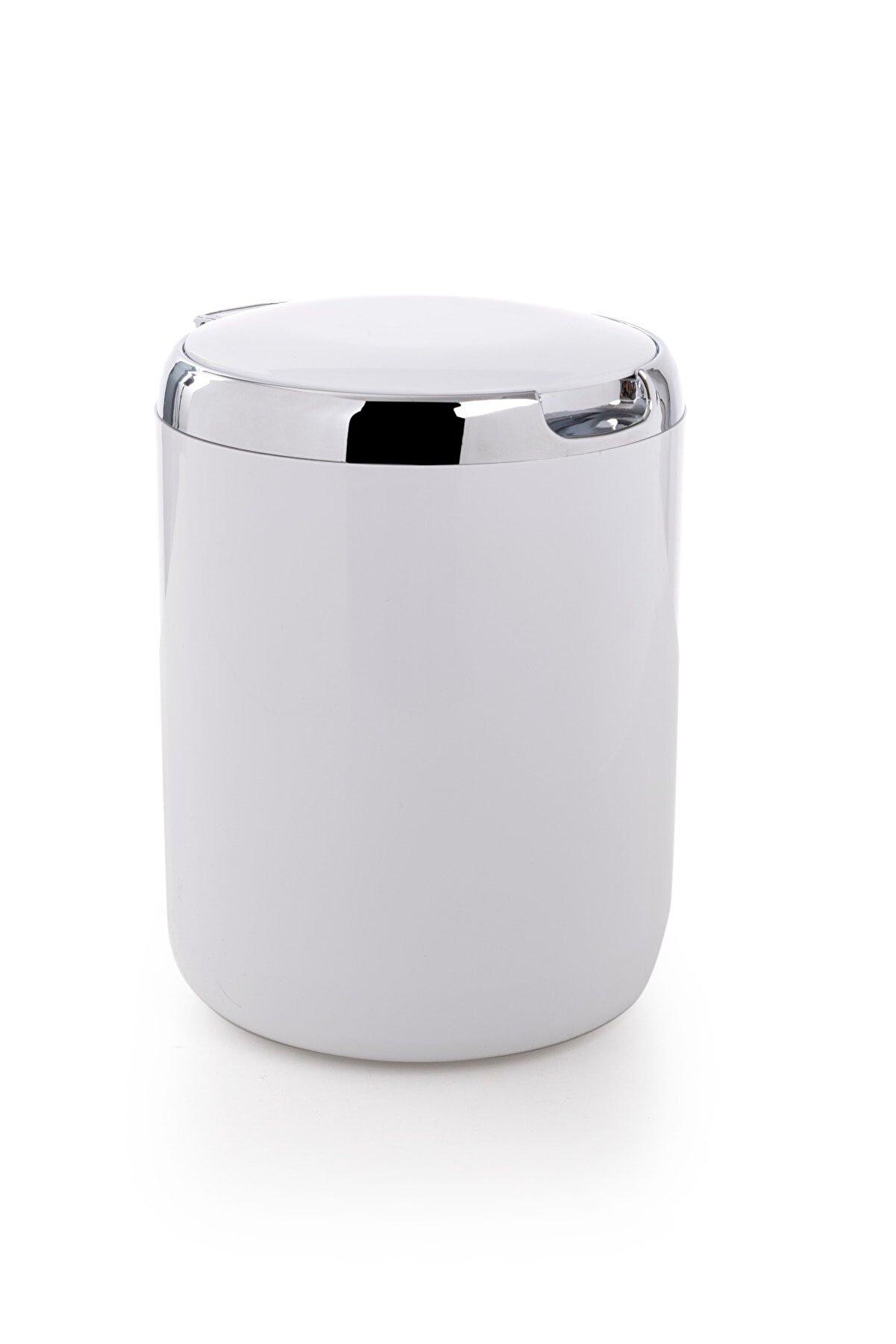 Prima Nova Pasifik 3lt Çöp Kovası Plastik Kapaklı Beyaz