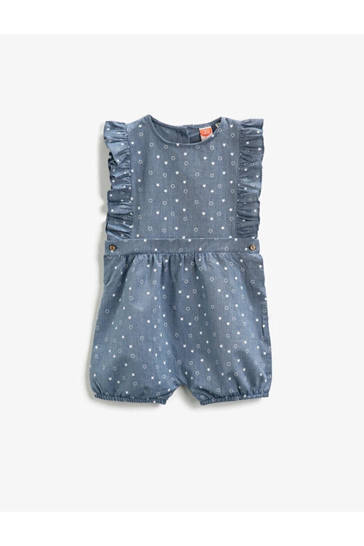 Koton Kız Bebek Mavi Tulum
