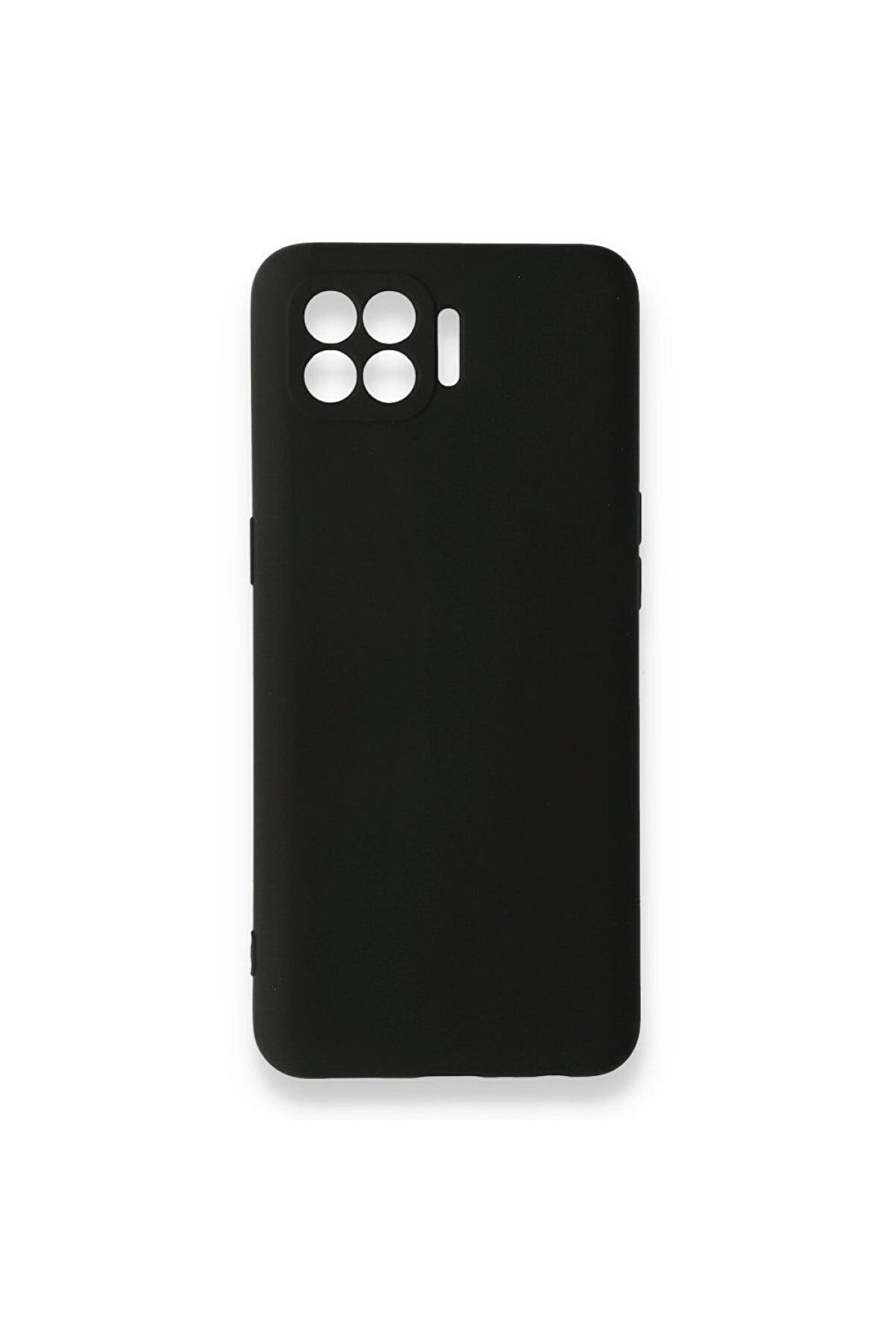 Oppo Reno 4 Lite Uyumlu Içi Kadife Yumuşak Silikon Kılıf Siyah