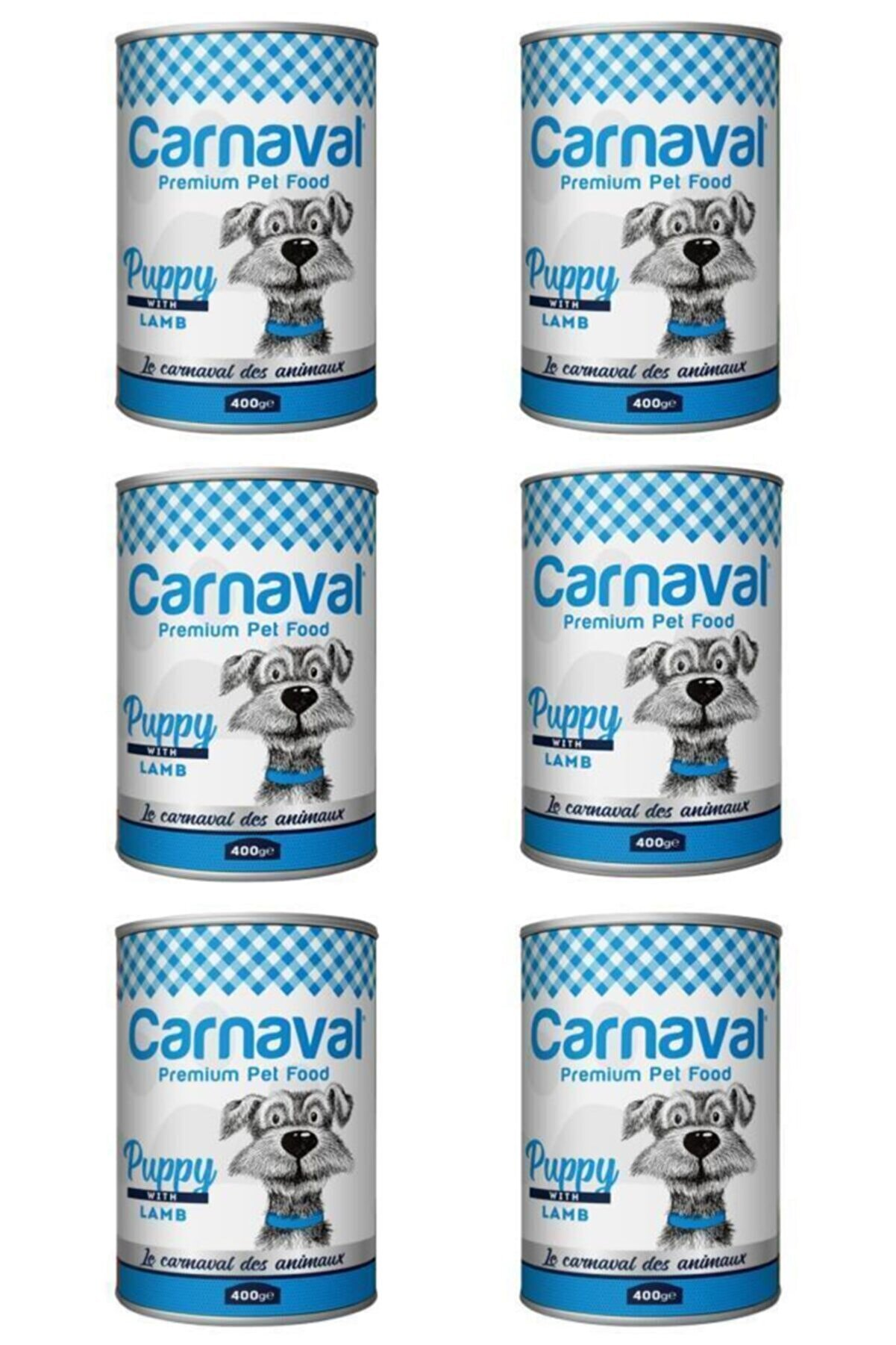 Carnaval Dog Kuzu Etli Yavru Köpek Konservesi 400 Gr X 6 Adet