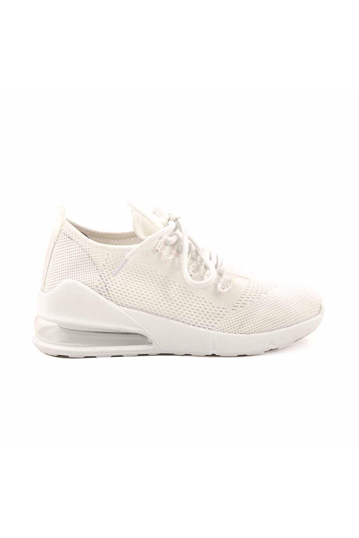 Kemal Tanca Kadın Beyaz Sneaker Aır1