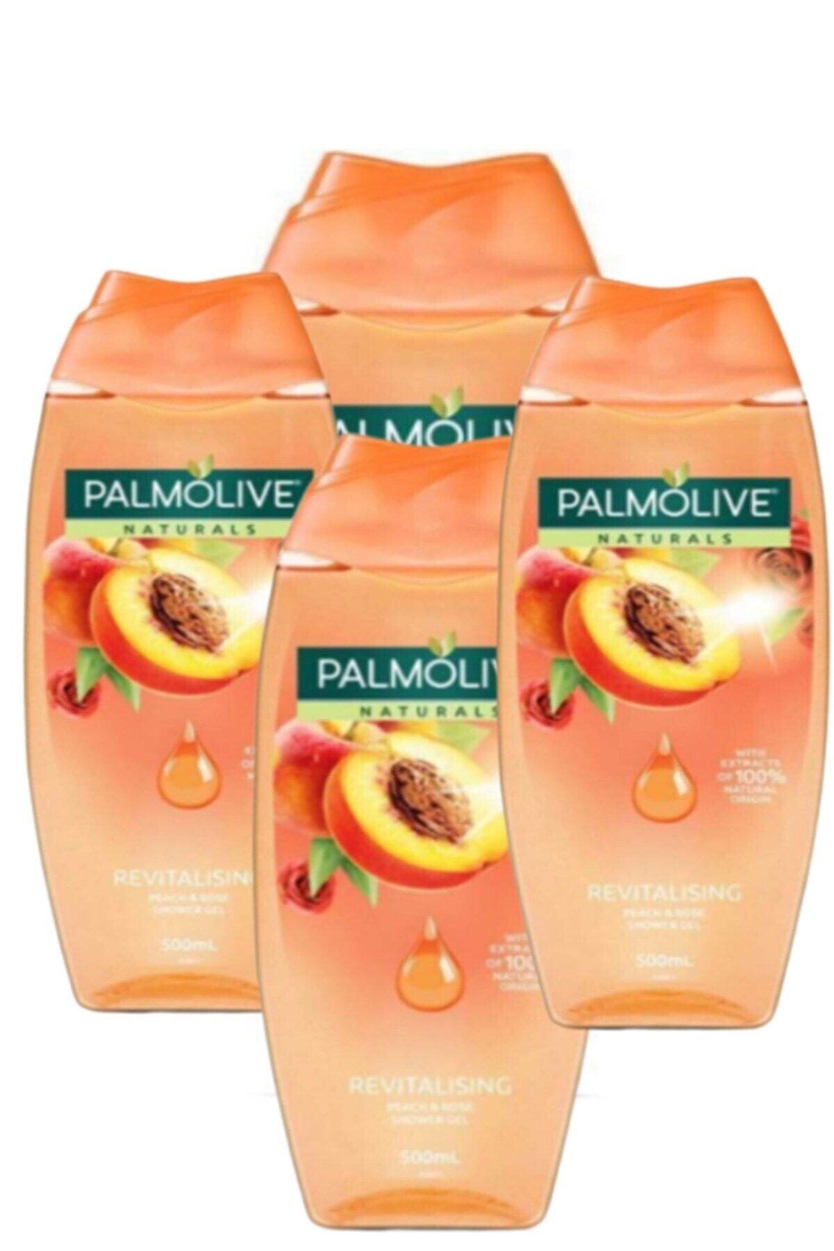 Palmolive Naturals Revitalising Şeftali Ve Gül Duş Jeli 500 Ml X4