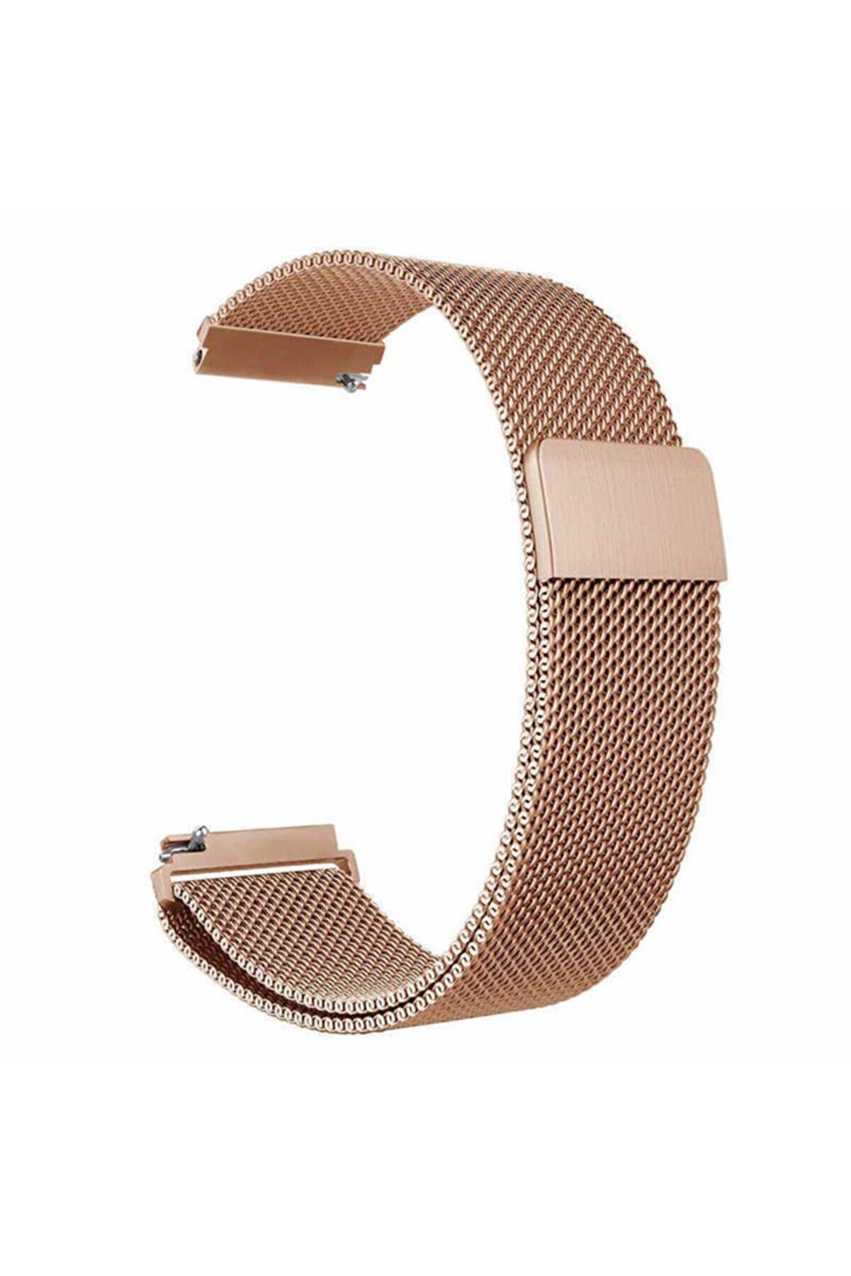 Samsung Galaxy Watch 42mm (20mm) Krd-12 Akıllı Saat Kordonu Metal Örgü Hasır Kordon Kayış Bileklik