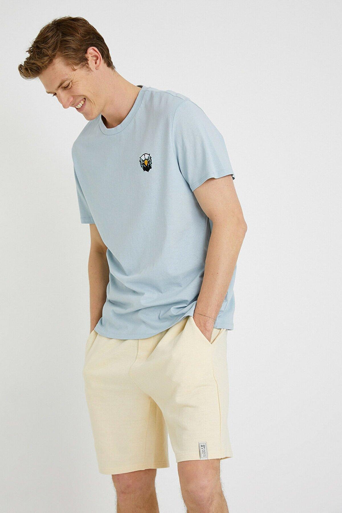 Koton Erkek Lila T-Shirt 1YAM11318HK