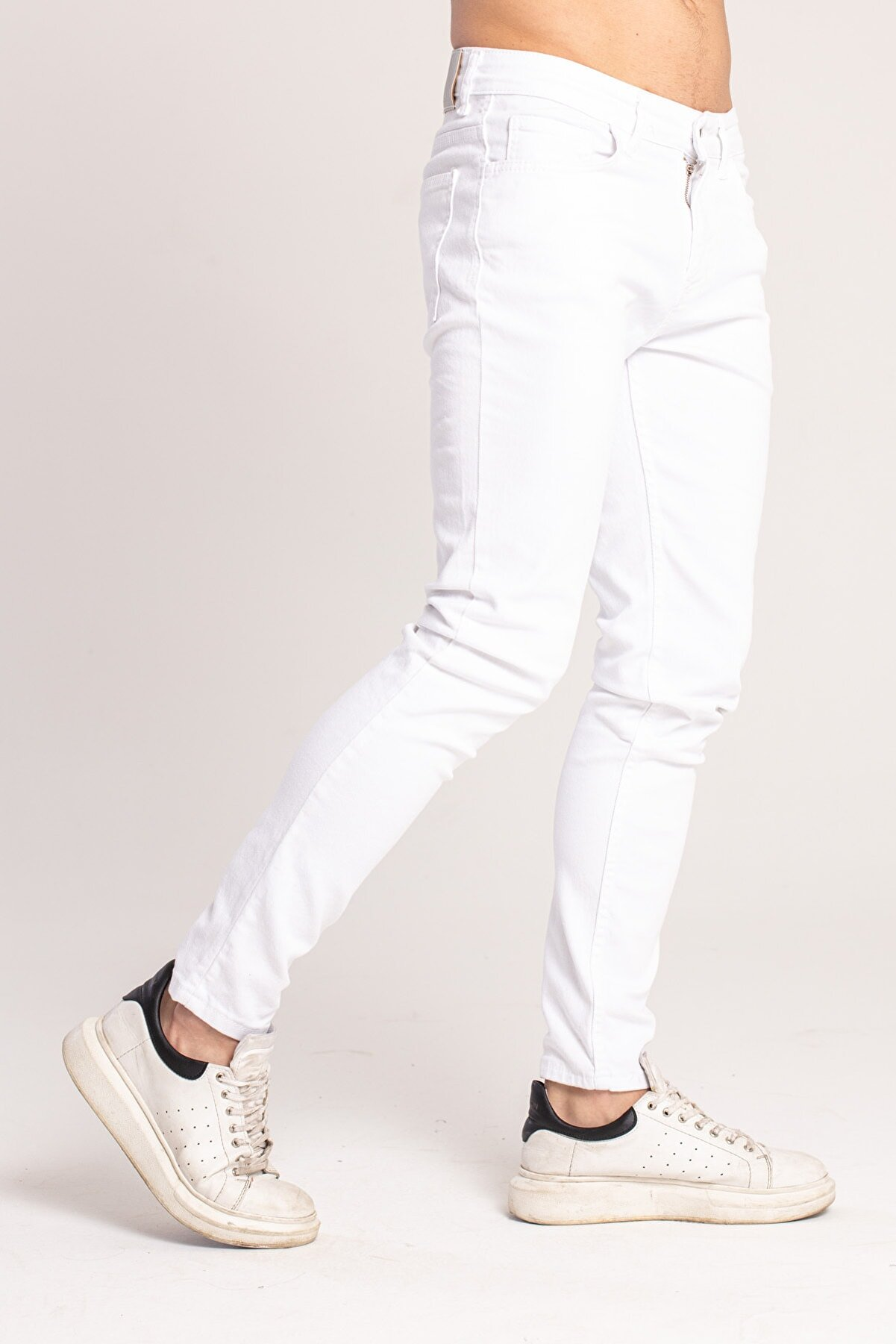 Catch Erkek Dar Kalıp Beyaz Jeans3996-r