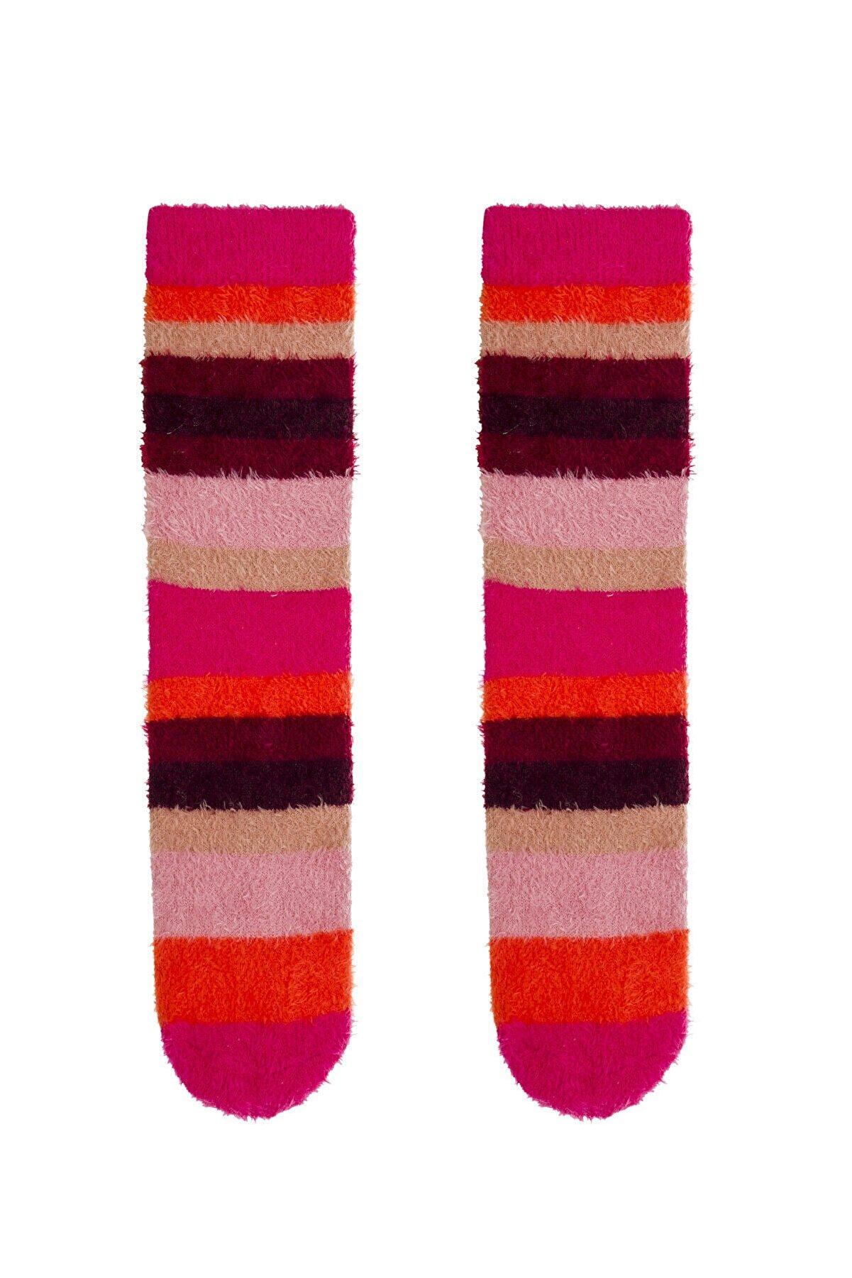 Penti Çok Renkli Scarlet Çizgili Soket Çorabı