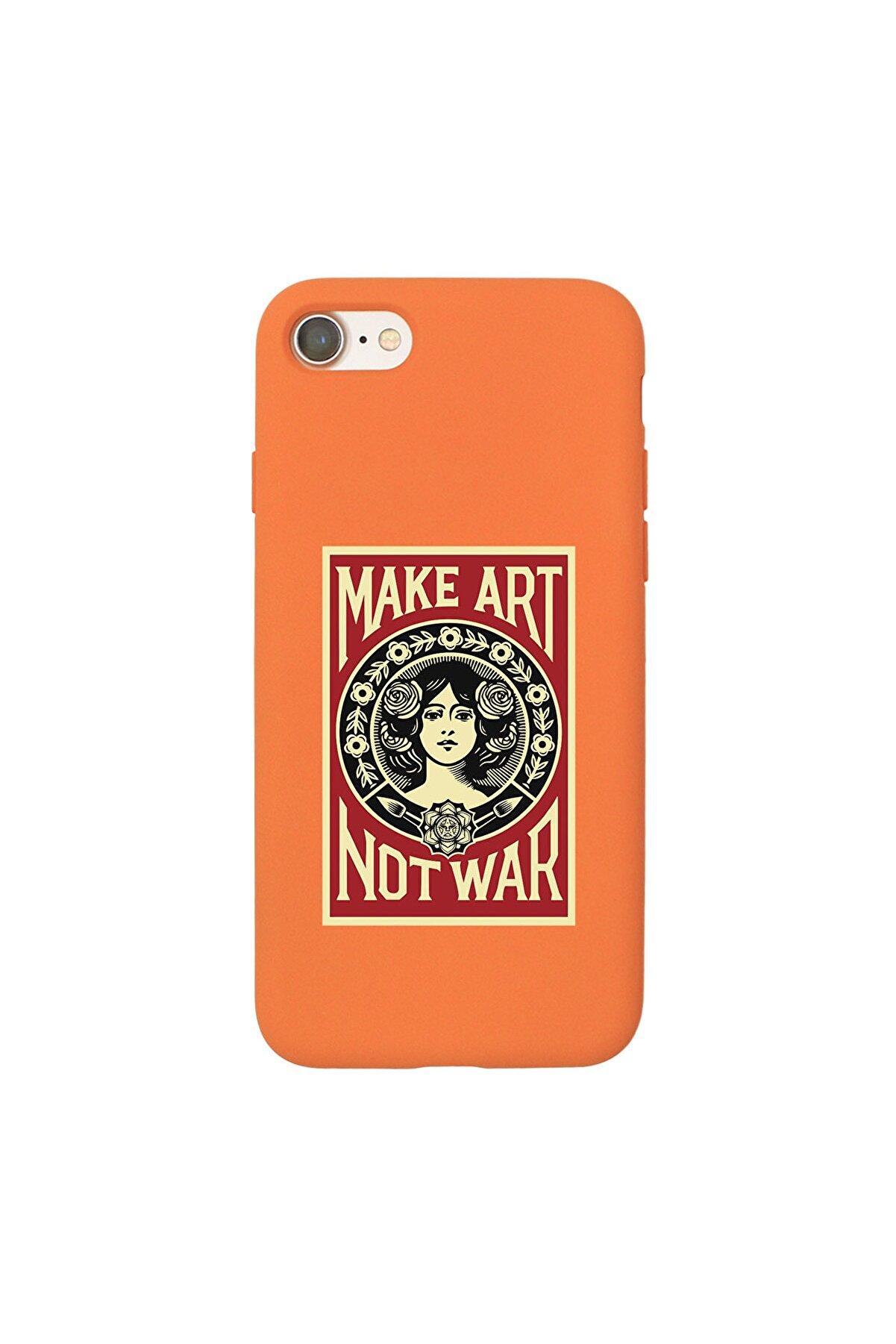 shoptocase Iphone 7 Lansman Make Art Not War Desenli Telefon Kılıfı