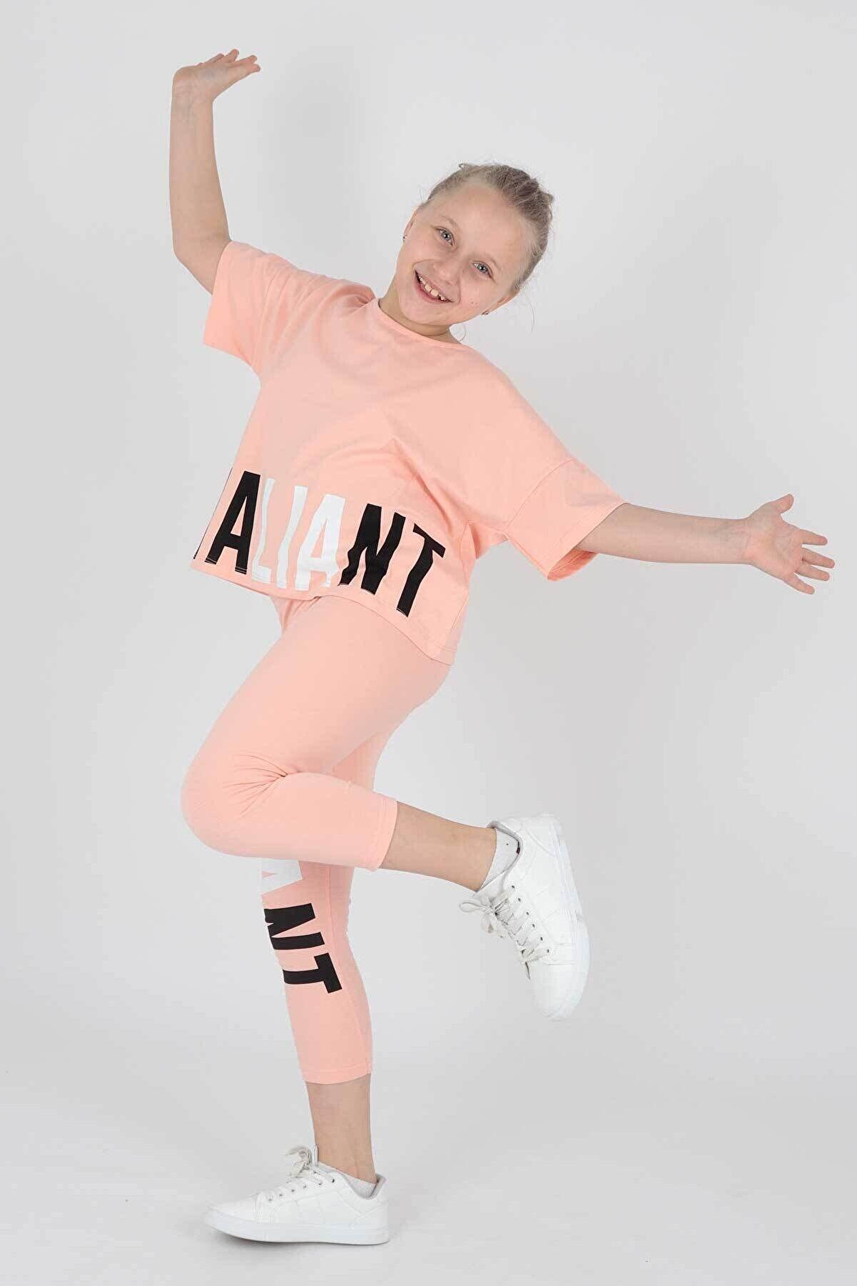 Ahenk Kids Ak14206 Vaillant Baskılı Taytlı Takım