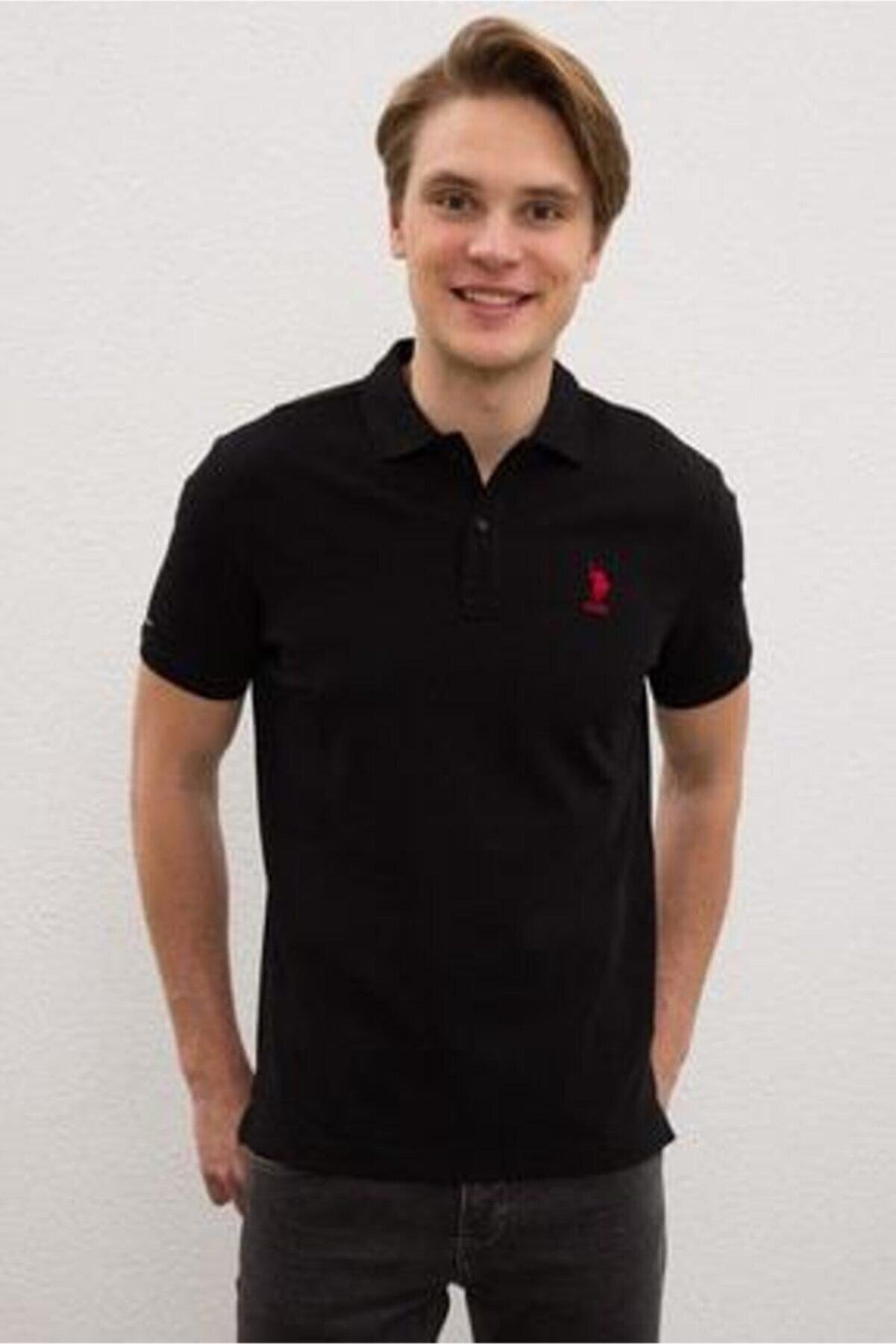 US Polo Assn Erkek Siyah Polo Yaka T-shirt G081sz011.000.948811