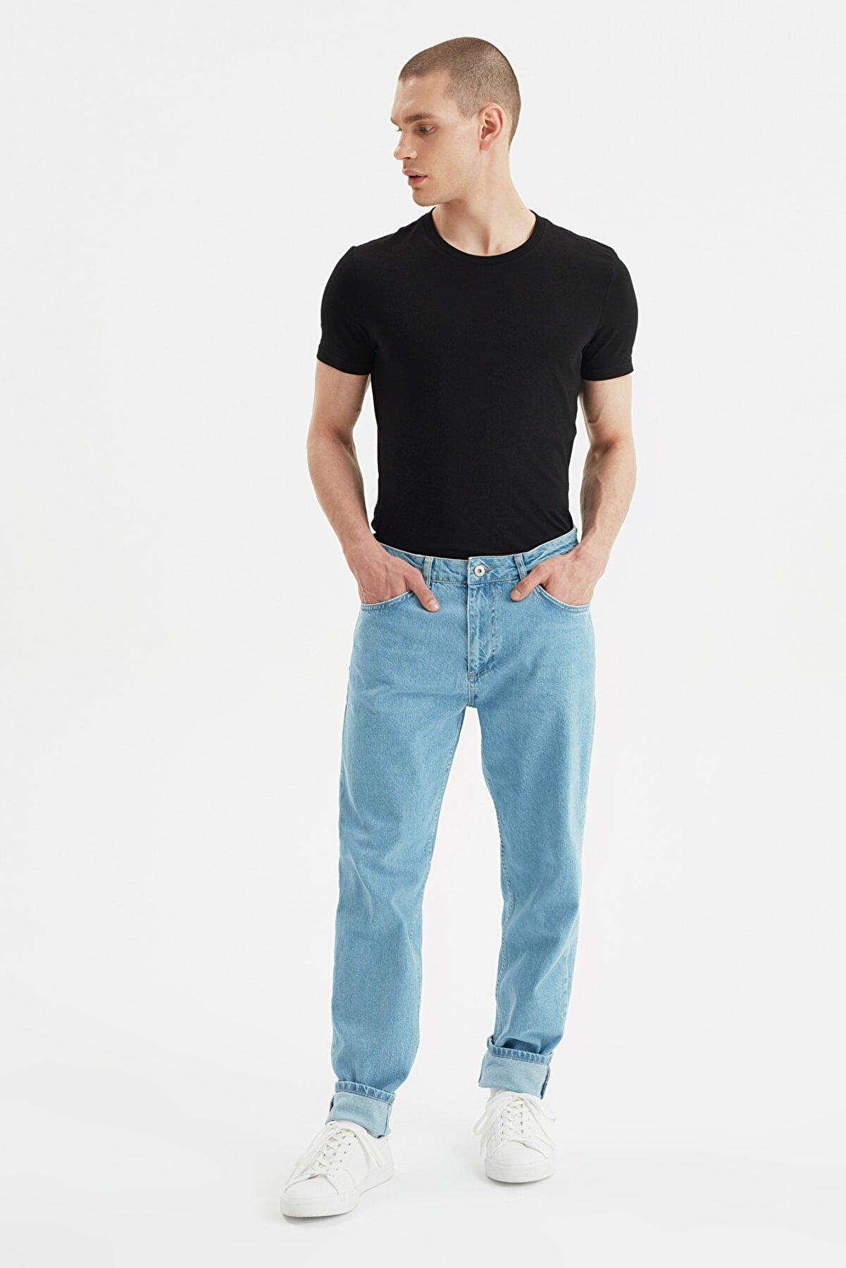 TRENDYOL MAN Mavi Erkek Essential Fit Jeans TMNSS21JE0672