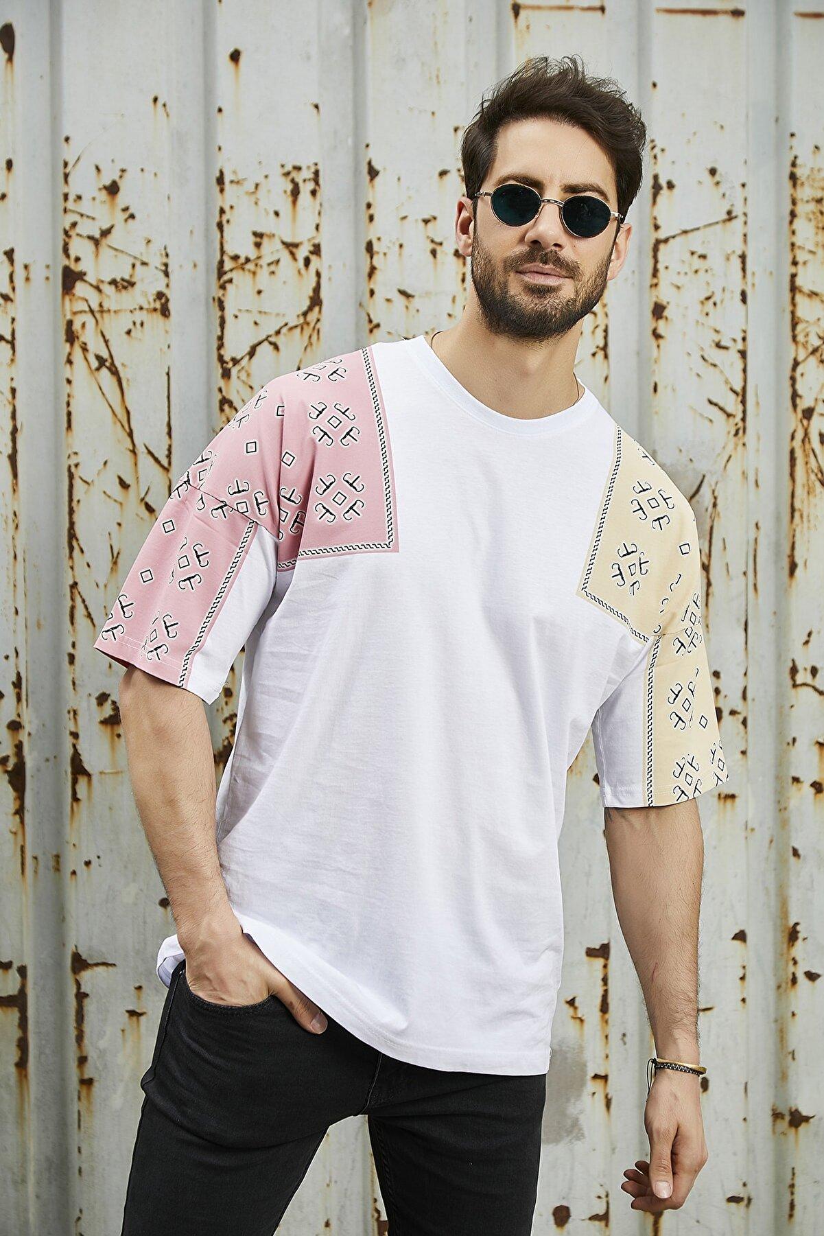 Sateen Men Erkek Beyaz Baskılı T-Shirt