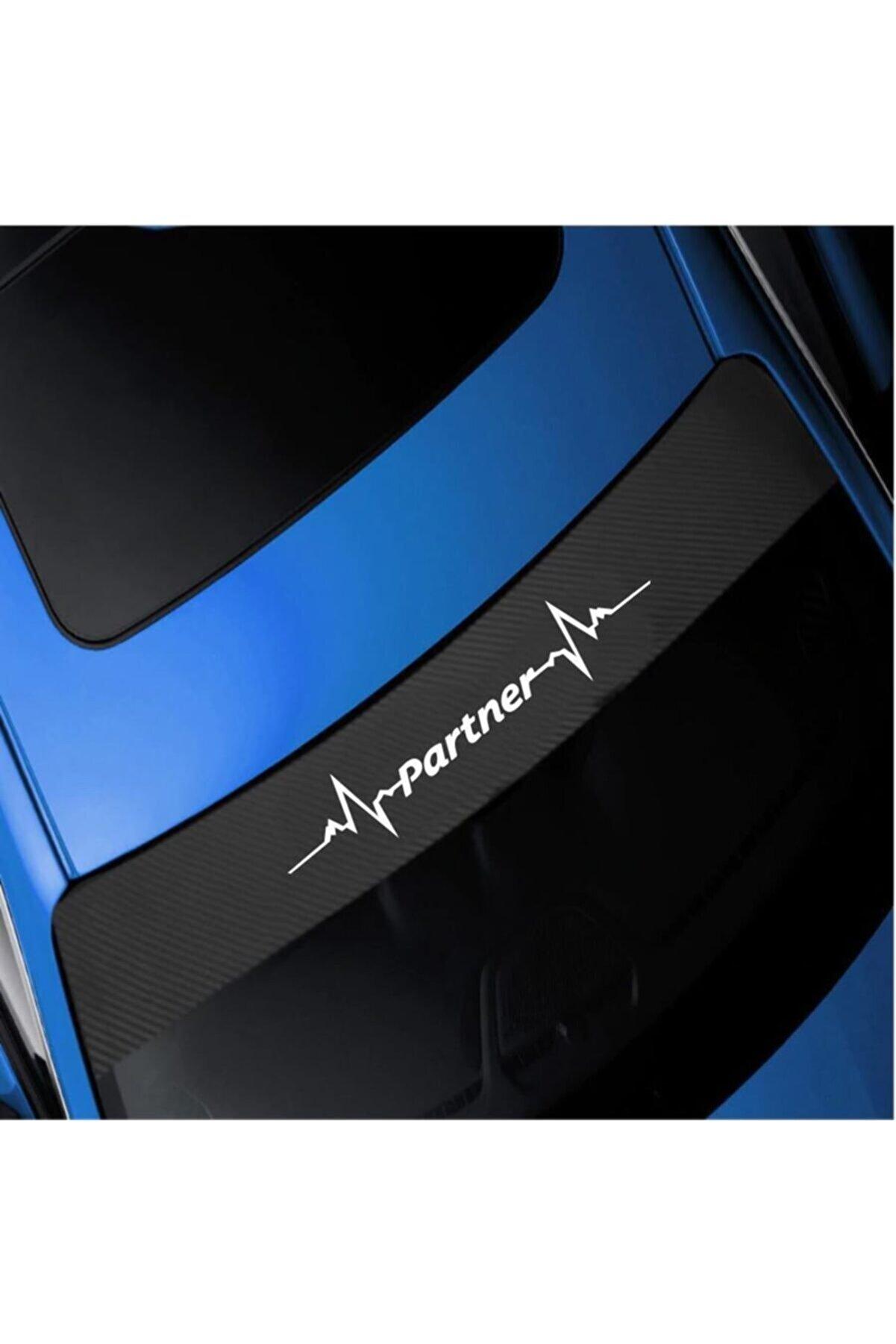Cix Peugeot Partner Karbon Ön Cam Oto Sticker