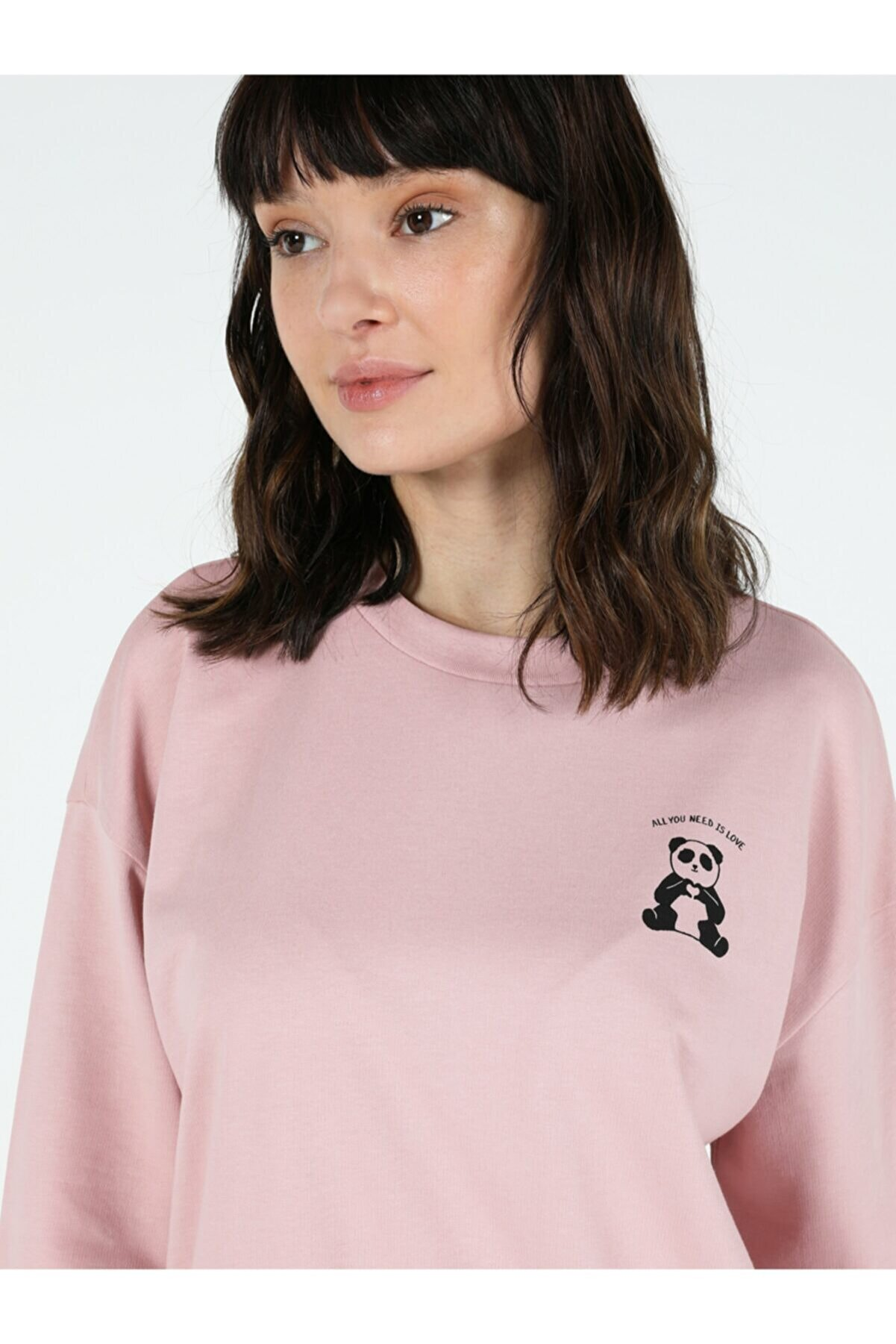 Colin's Regular Fit Pembe Kadın Sweatshirt