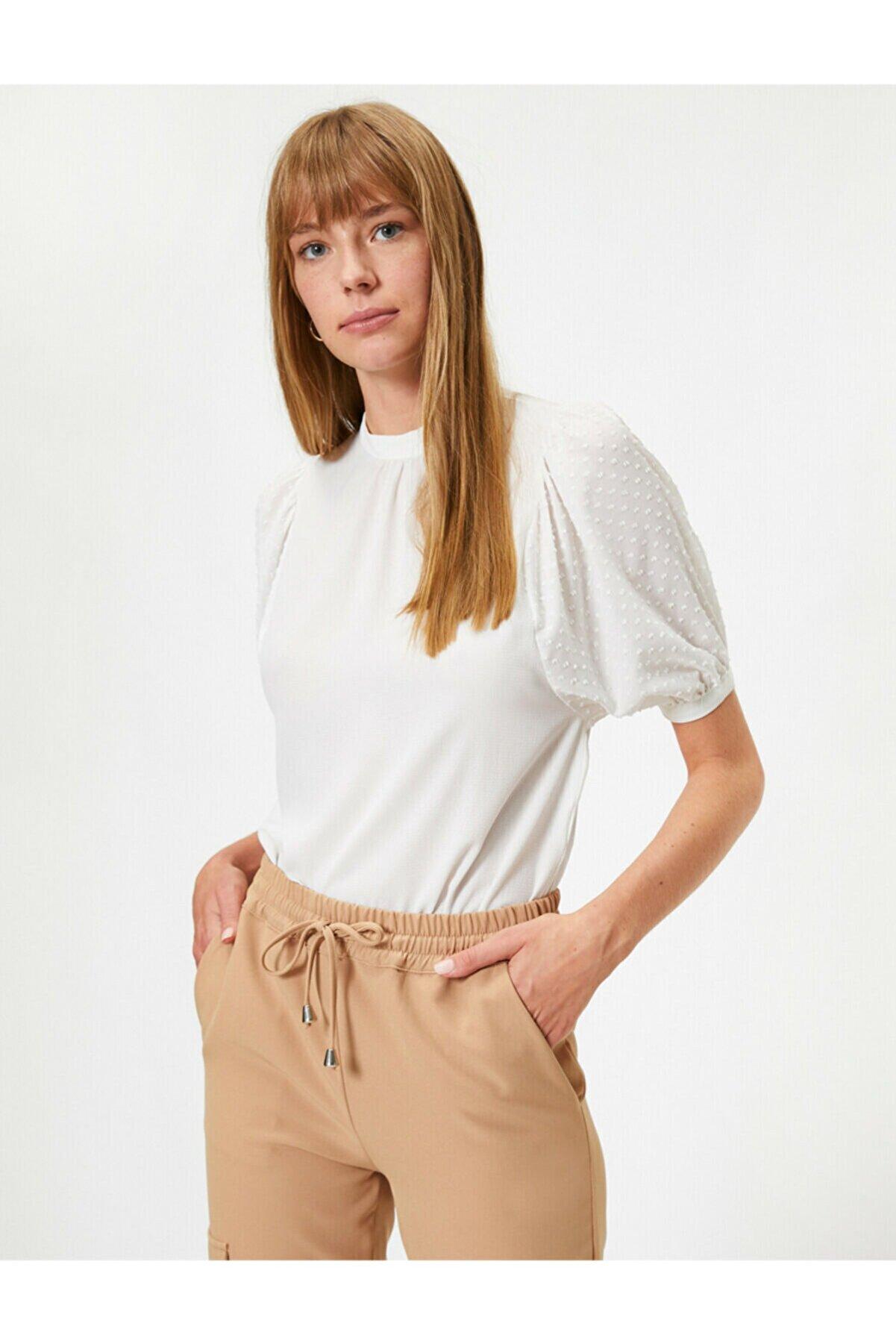 Koton Kadın Balon Kollu Bluz
