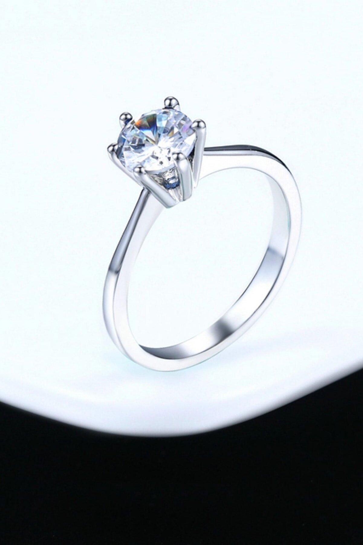 Crystal Diamond Zirconia Labaratuvar 0.50 Carat ,0.50 Karat Pırlanta Tektaş Yüzük