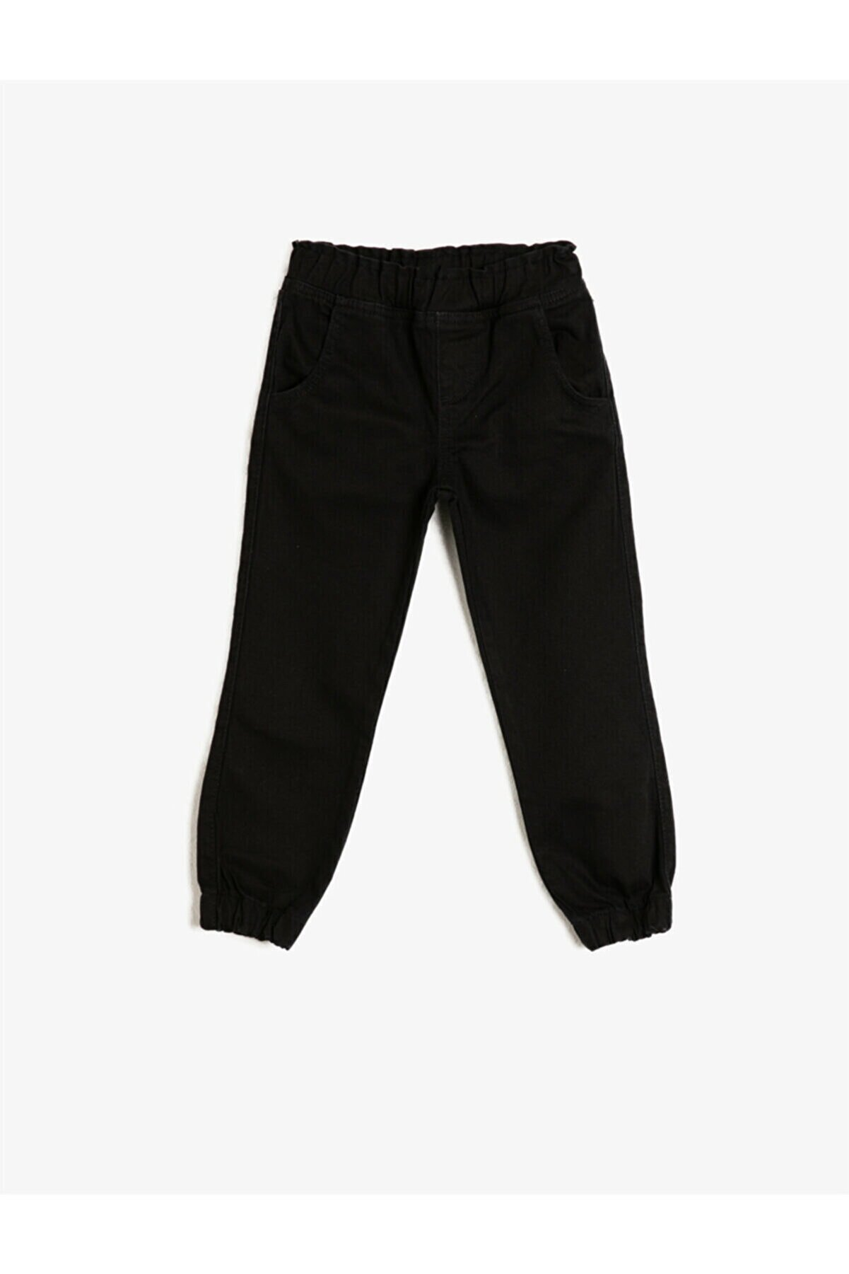 Koton Erkek Çocuk Siyah Normal Bel Pamuklu Jean Pantolon
