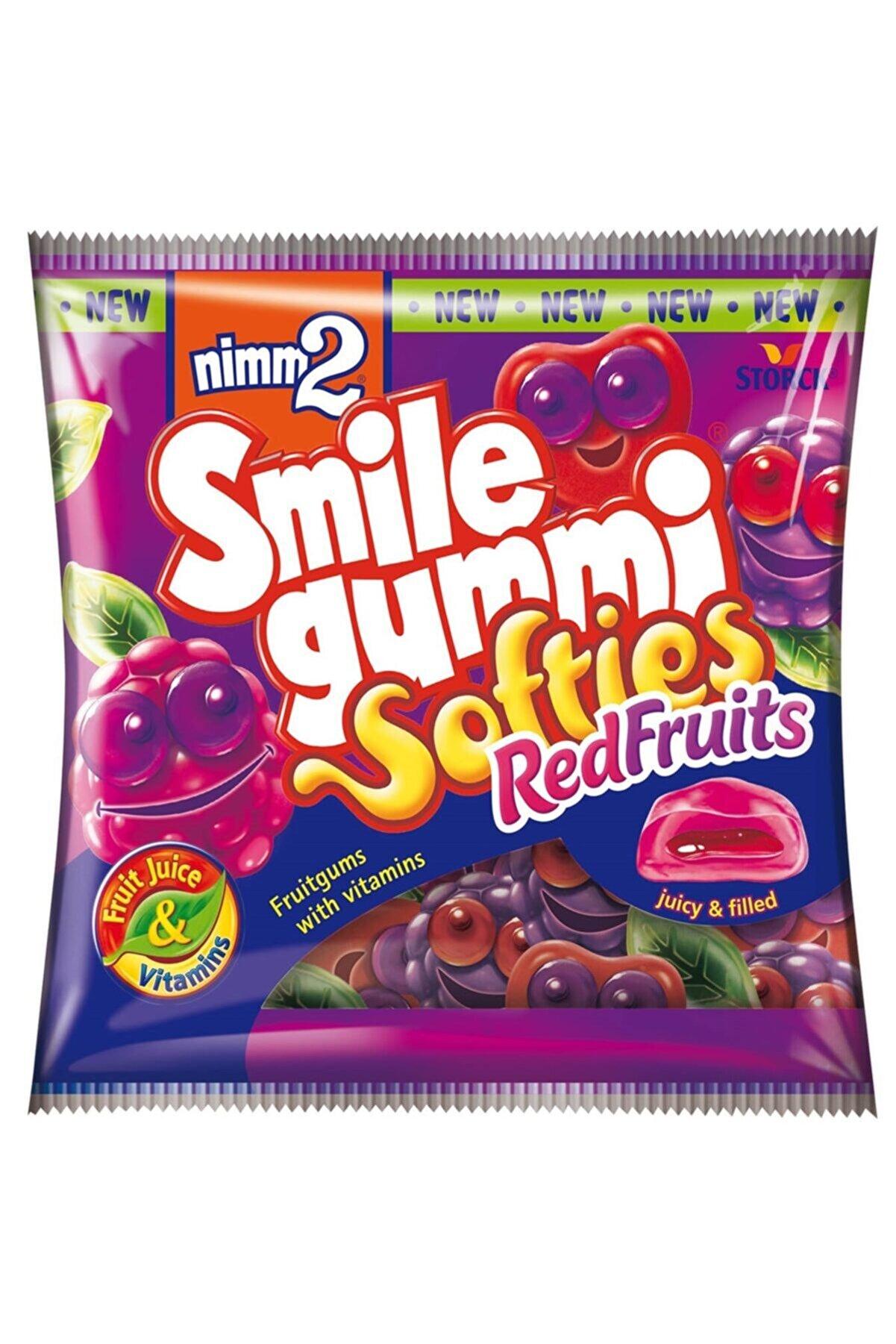 Nimm2 Nimm2 Smile Gummi Kırmızı Meyveler Aromalı Yumuşak Şekerleme 90gr