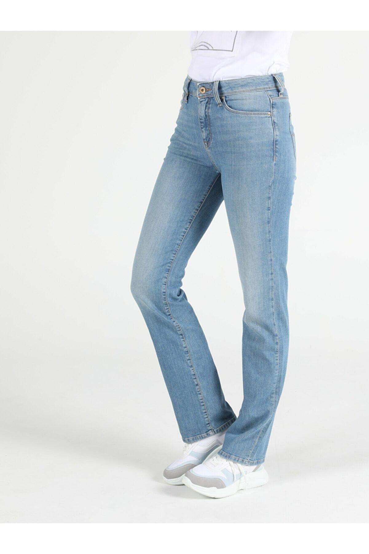 Colin's KADIN 792 Mıla Orta Bel Düz Paça Regular Fit Jean Kadın Jean Pantolon CL1050259