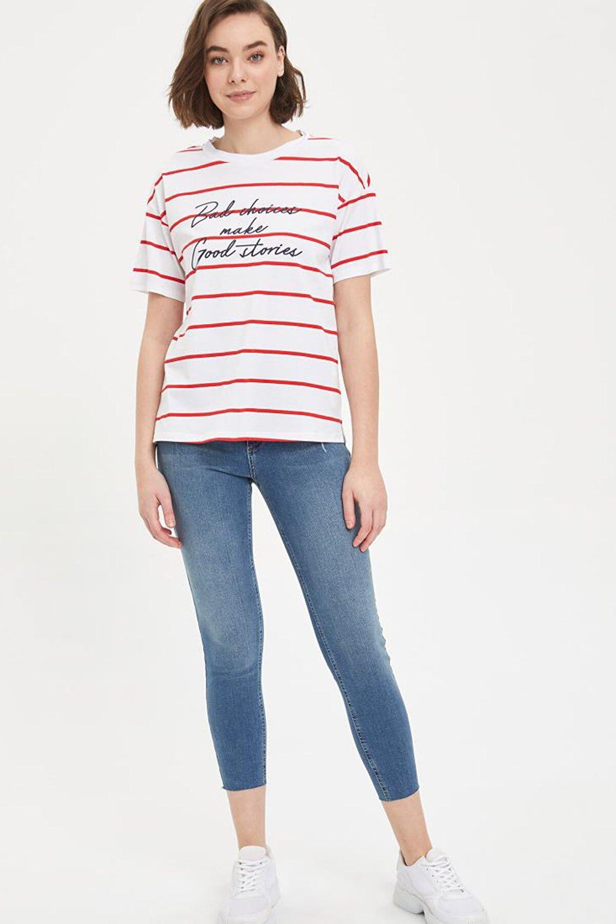 Defacto Kadın Yeşil Kot Super Skinny Fit Jean Pantolon L7021AZ.20SP.NM29