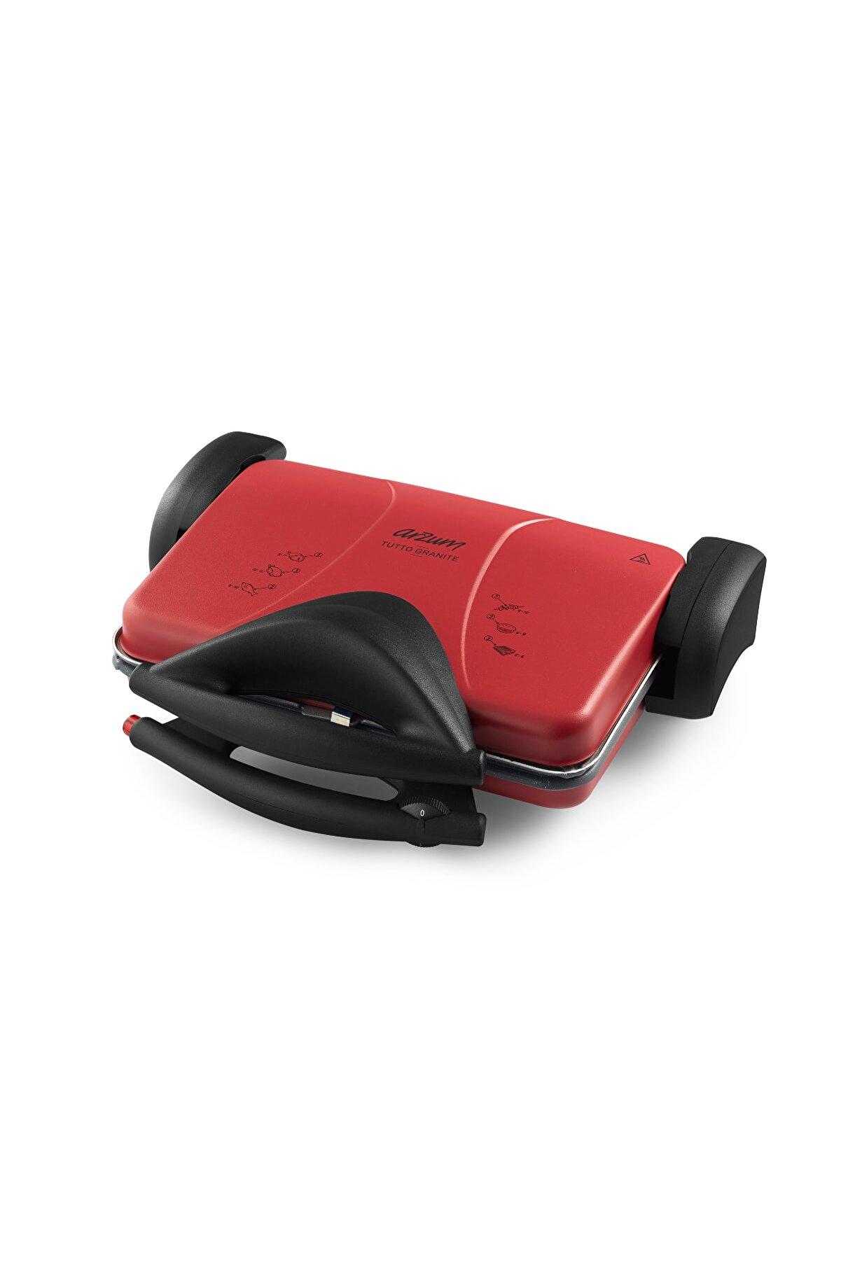 Arzum Ar2045-k Tutto Granite Izgara Ve Tost Makinesi Kırmızı