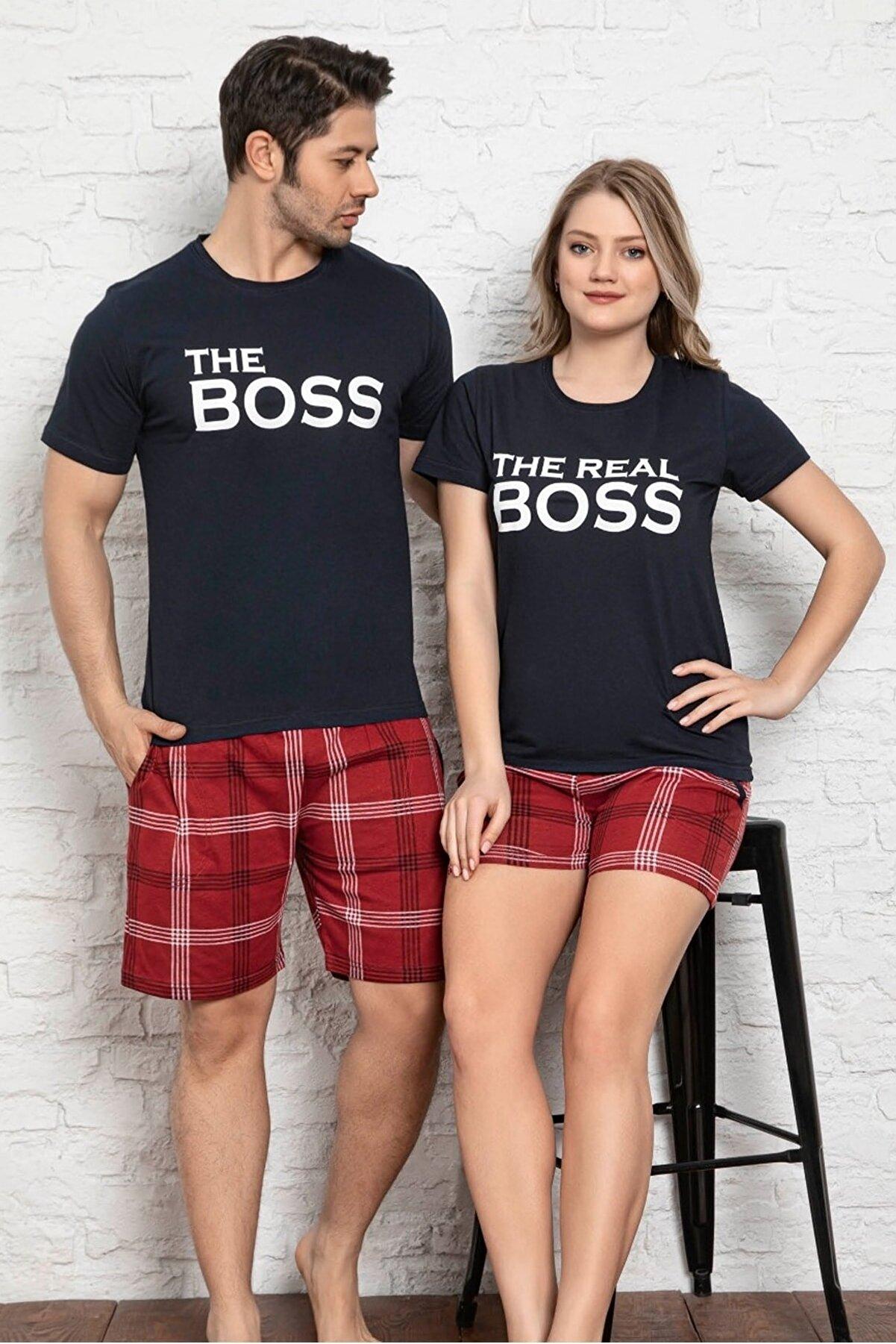lovebox Kadın Baskılı Kısa Kollu T-shirt Ve Şort Pijama Takım 6620-5