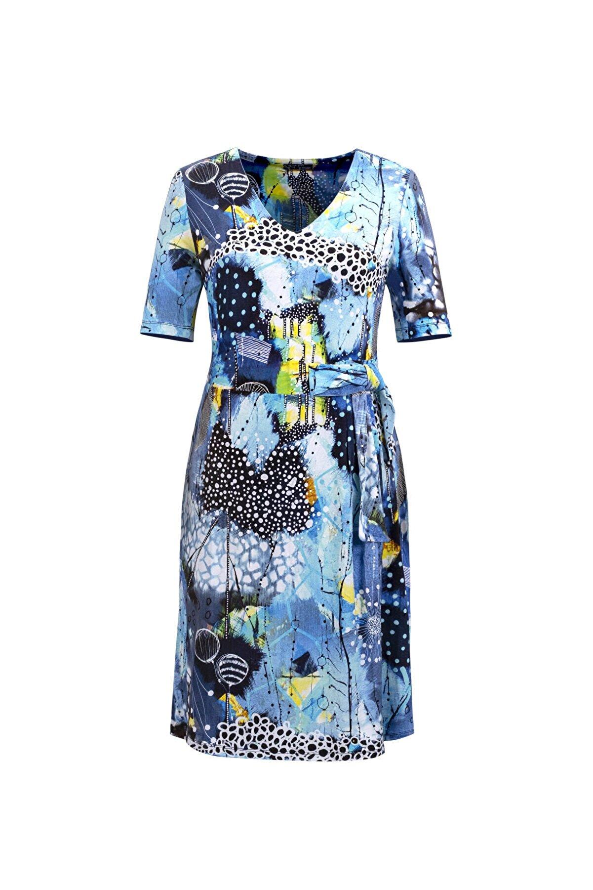 DCZ FASHION Kemer Detaylı Kısa Kollu Elbise