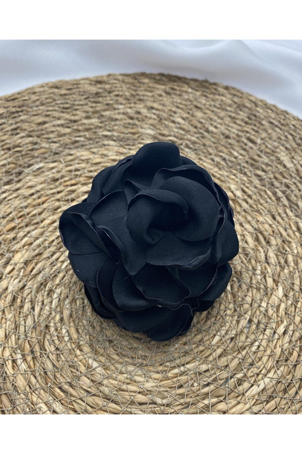 elittrendshop Güllü Topuz Mandal Toka Siyah Renk Yeni Model(7cm )