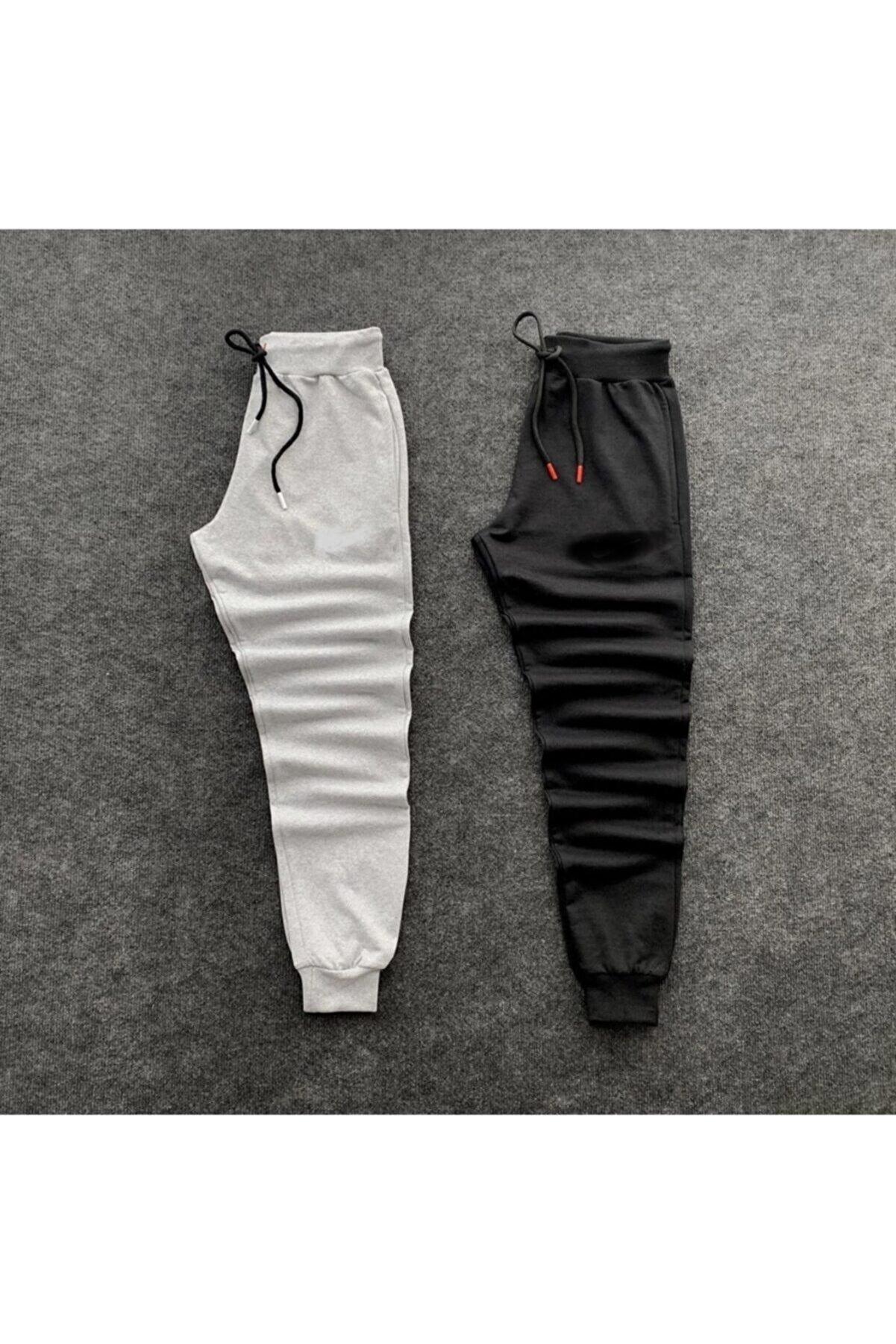 Lion Company Unisex Gri-siyah Slim Fit Çift Eşofman