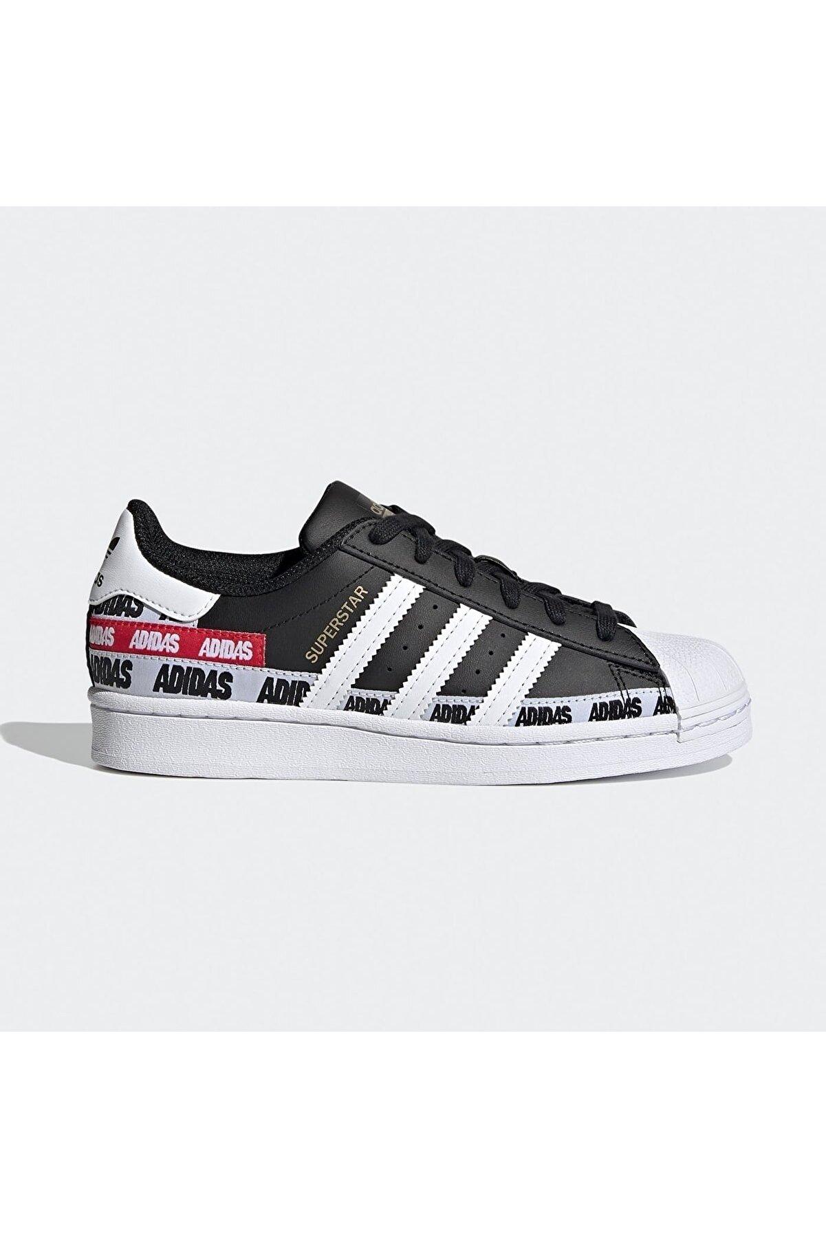 adidas Kadın Siyah Beyaz Yazılı Ayakkabı Fx5872