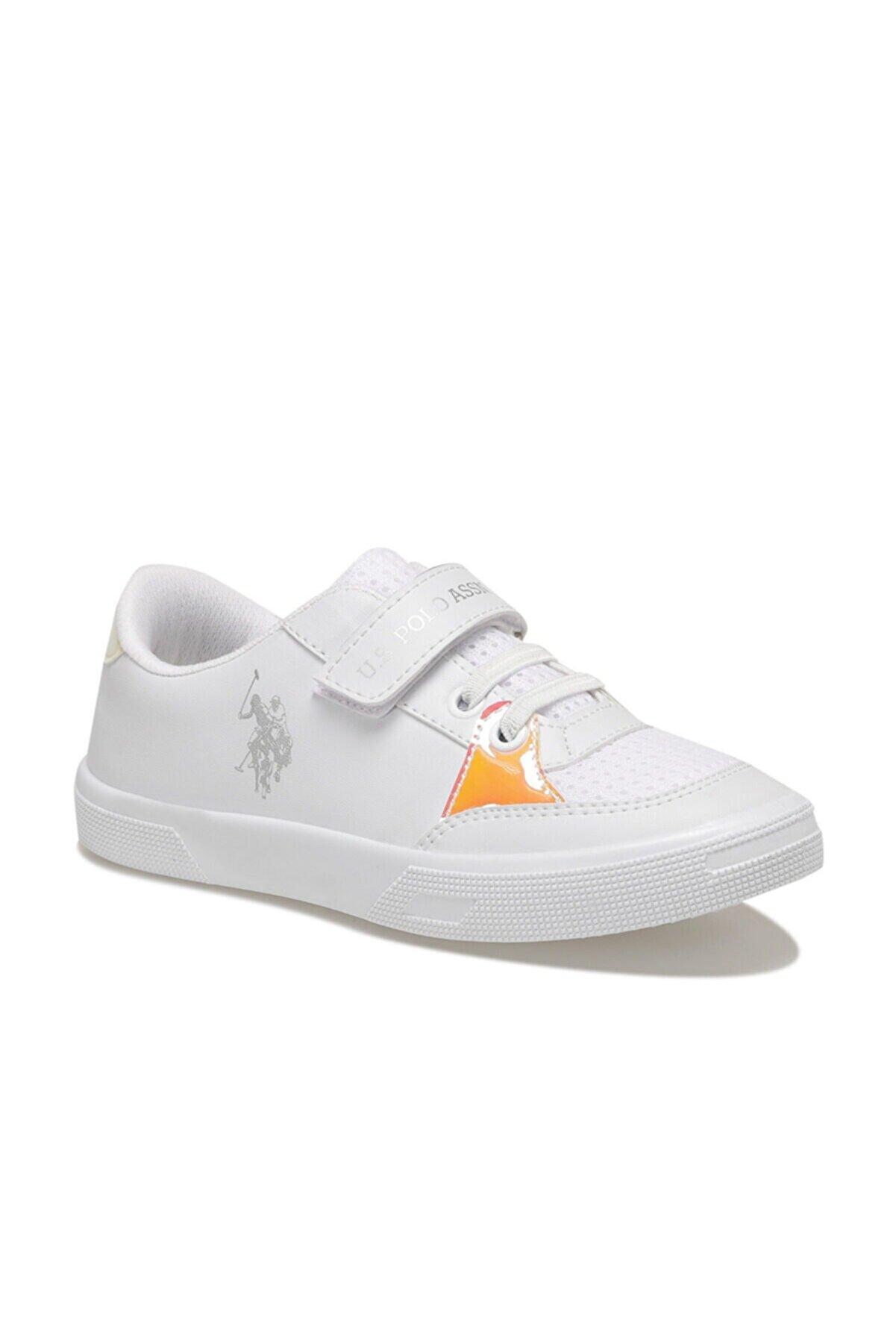 US Polo Assn WEALTH 1FX Beyaz Kız Çocuk Sneaker 100910946