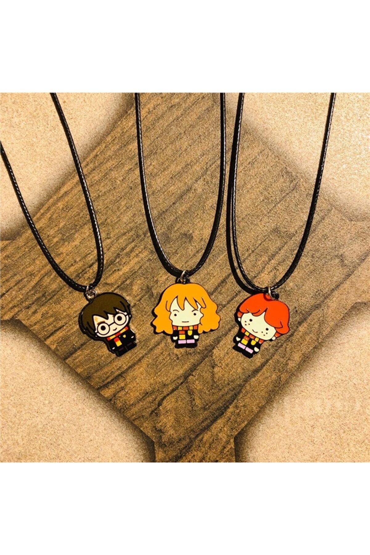 Nossun gift Genç Unisex Harry Potter Best Friends Kolye  3'lü