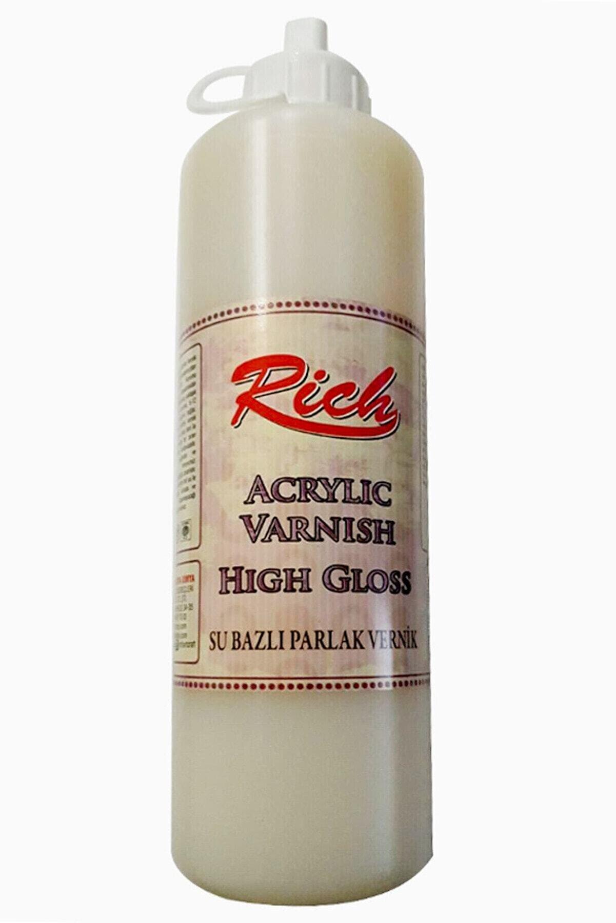 Rich Su Bazlı Vernik Parlak (high Gloss Acrylic Varnish) 500 Cc. Ekonomik Boy