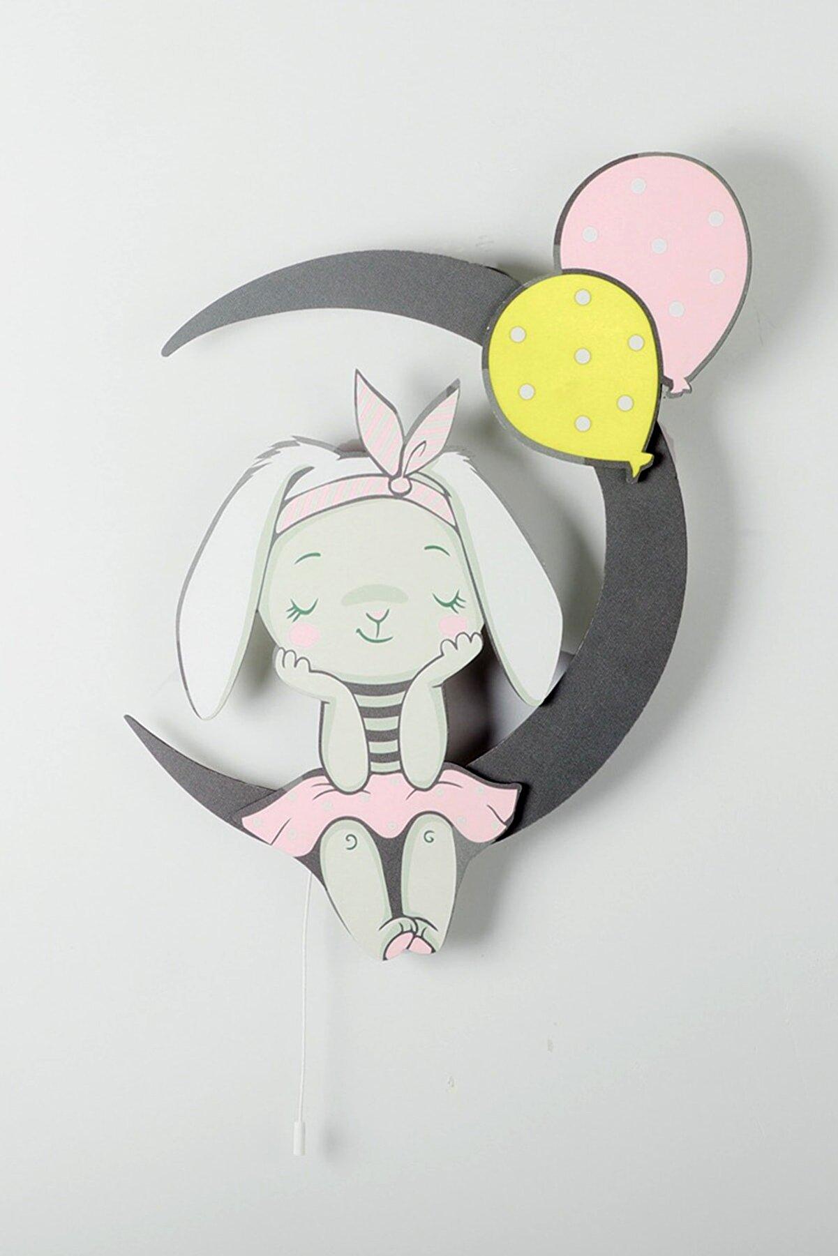 instababyrooms Ayda Oturan Balonlu Tavşan